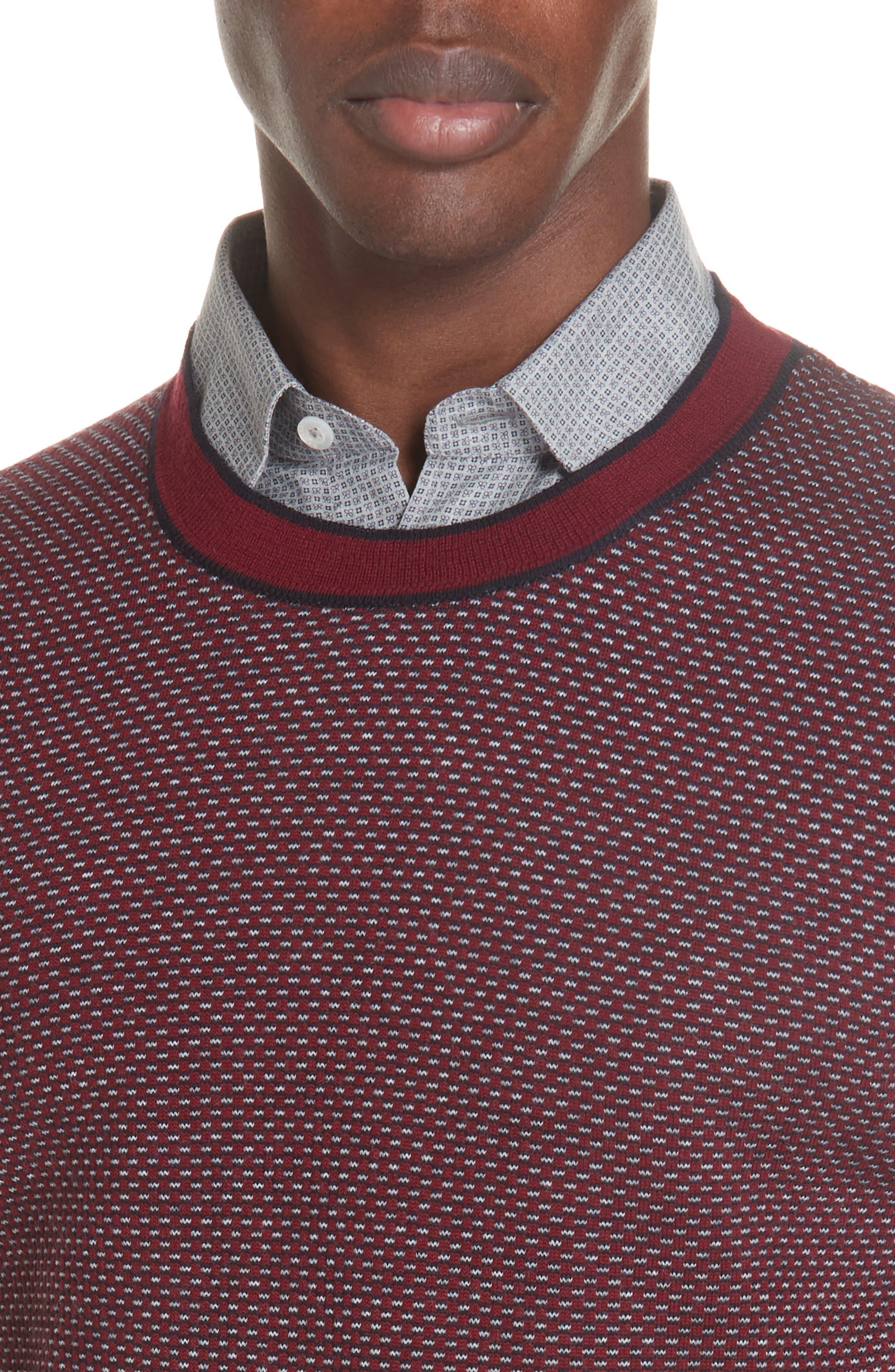 Crewneck Wool Sweater,                             Alternate thumbnail 4, color,                             600