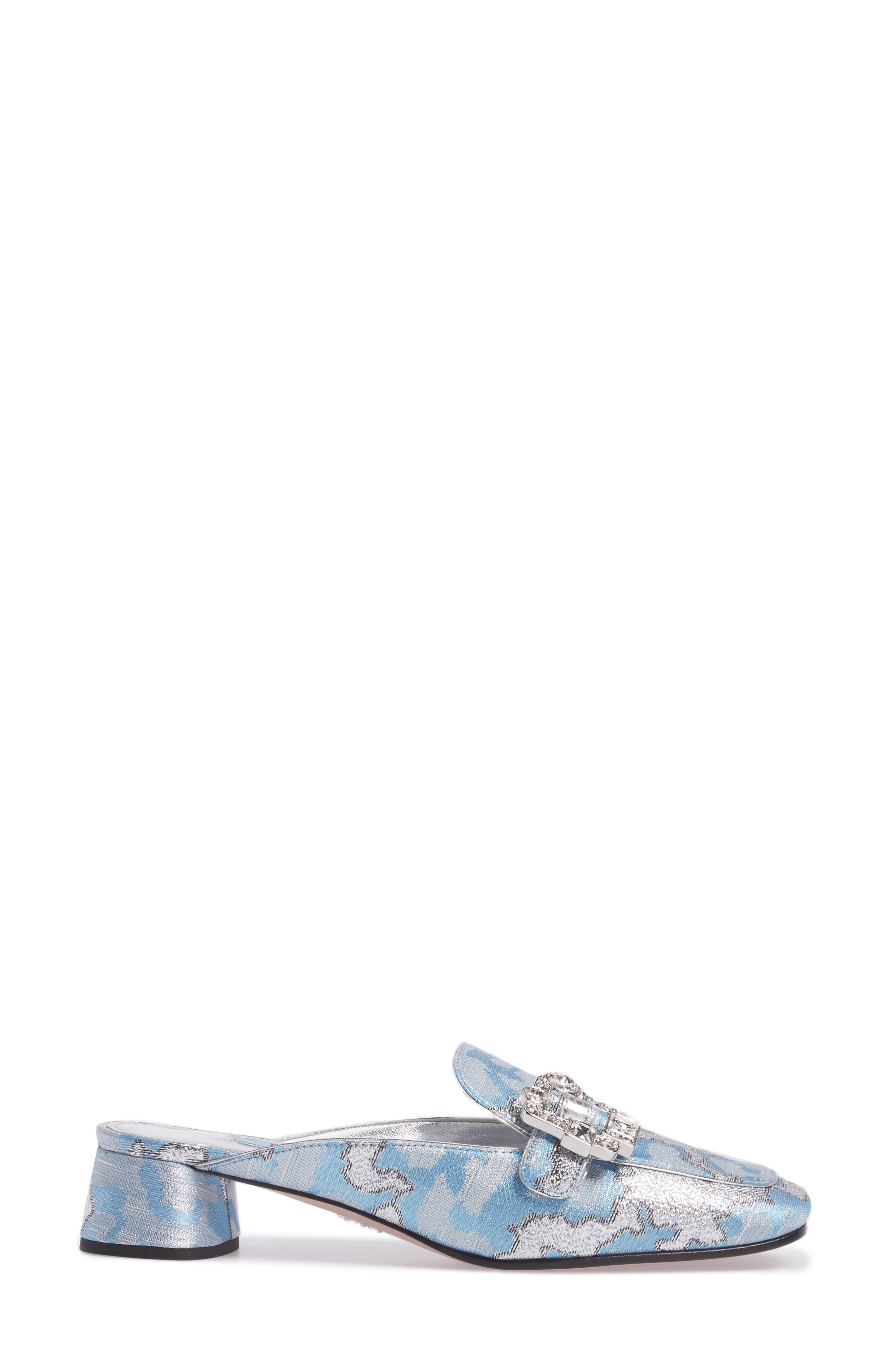 Crystal Buckle Loafer Mule,                             Alternate thumbnail 3, color,                             425