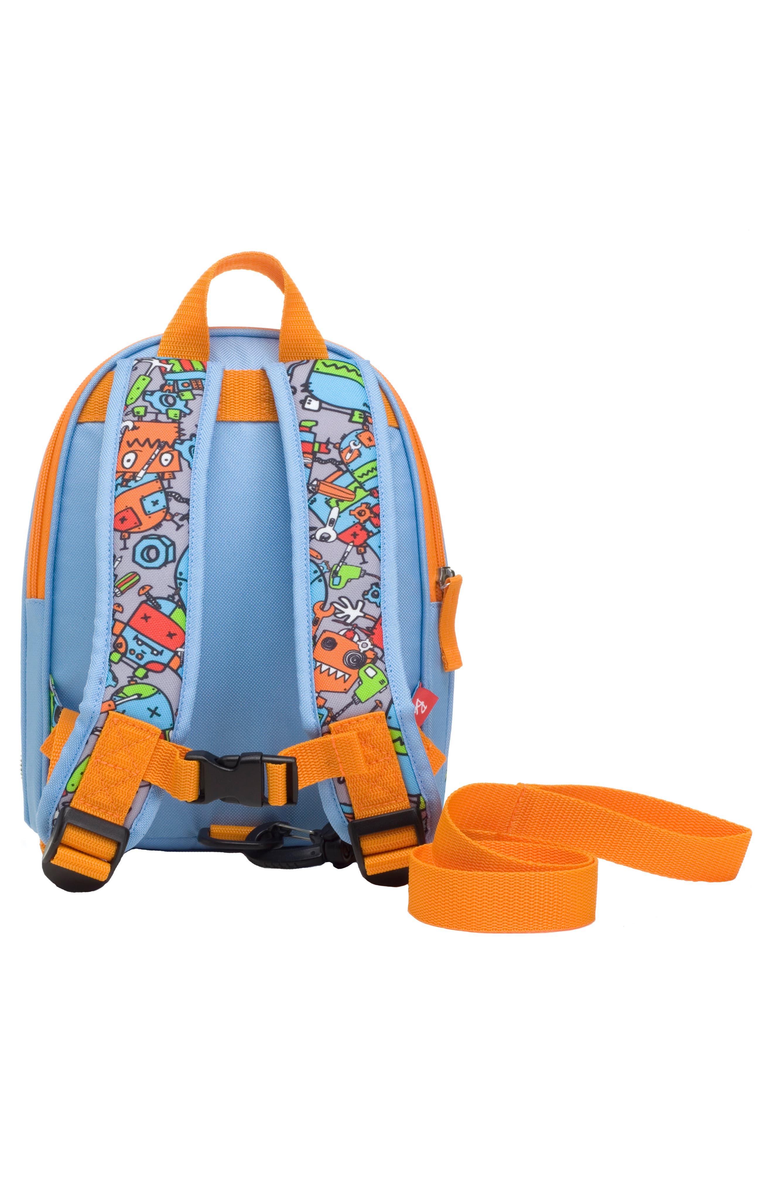 Zip & Zoe Robots Mini Backpack,                             Alternate thumbnail 2, color,                             ROBOTS