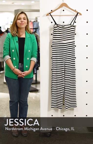 Shirred Top Stripe Jumpsuit, sales video thumbnail