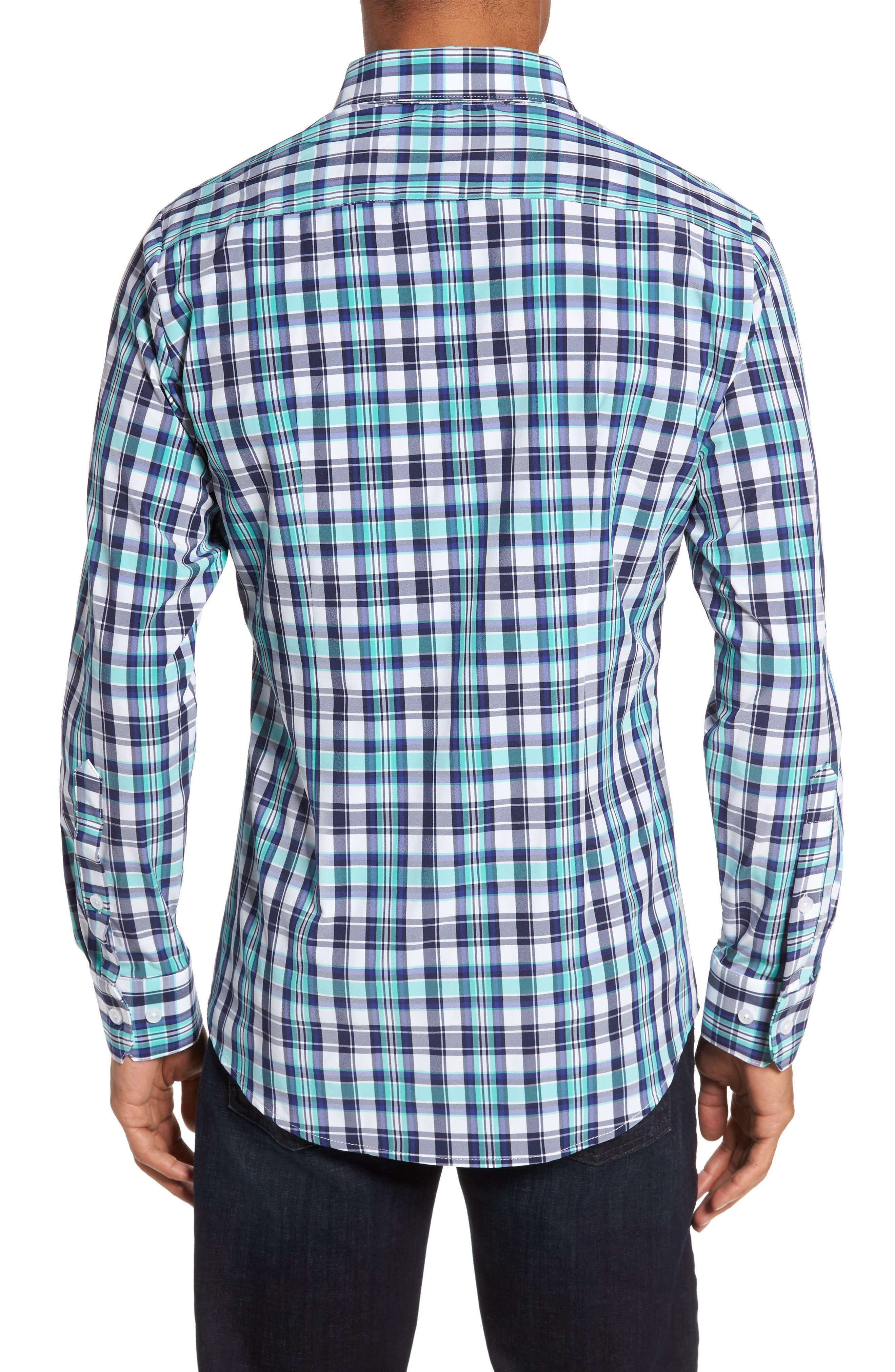 Monterrey Plaid Sport Shirt,                             Alternate thumbnail 2, color,                             GREEN