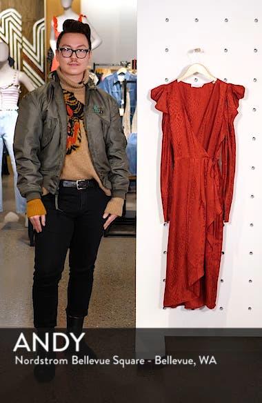 Carolina Puff Shoulder Silk Jacquard Dress, sales video thumbnail