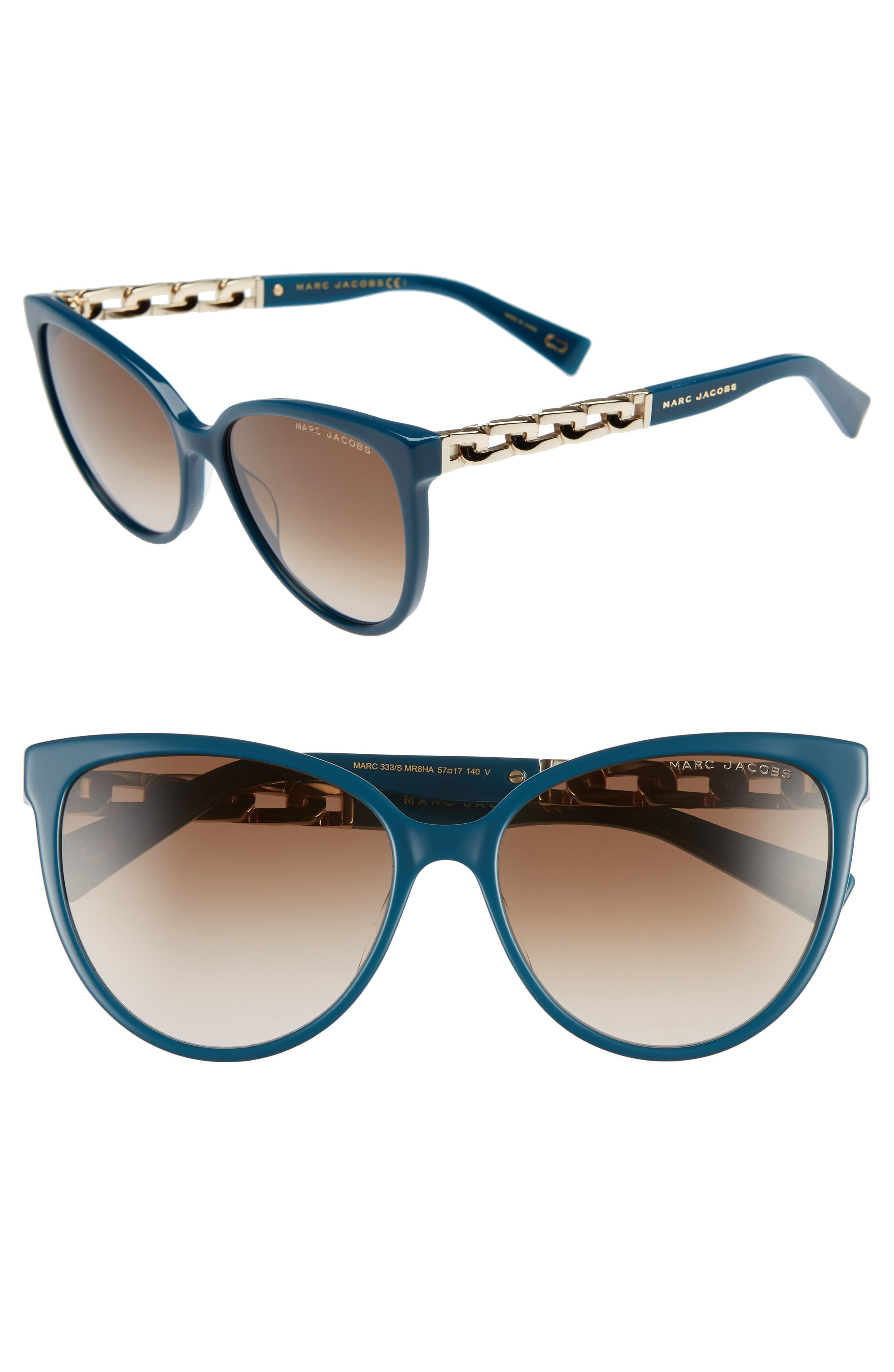 57Mm Gradient Cat Eye Sunglasses - Blue