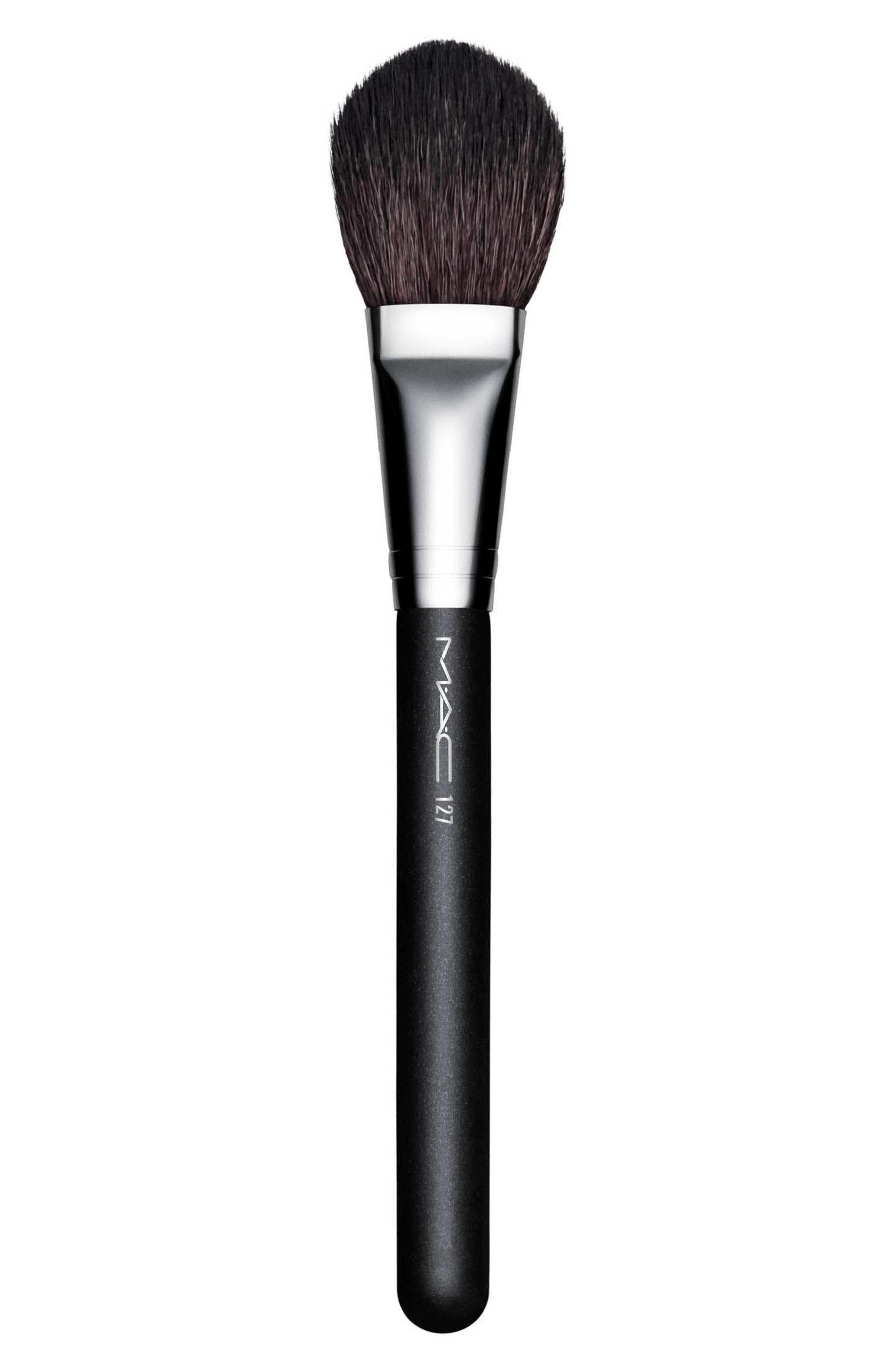MAC 127 Split Fibre Face Brush,                             Alternate thumbnail 2, color,                             000