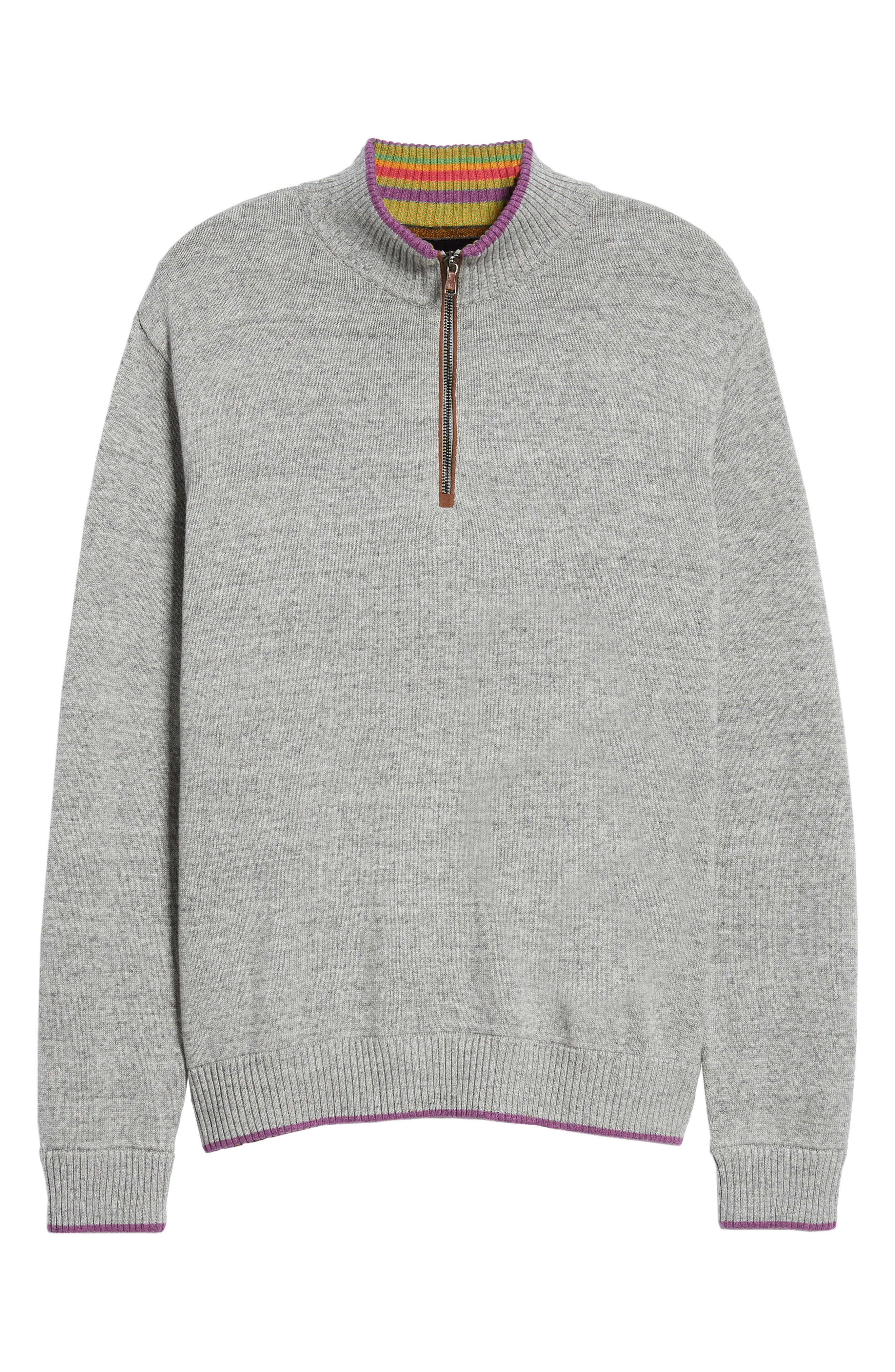 Cavalry Classic Fit Quarter Zip Sweater,                             Alternate thumbnail 6, color,                             032