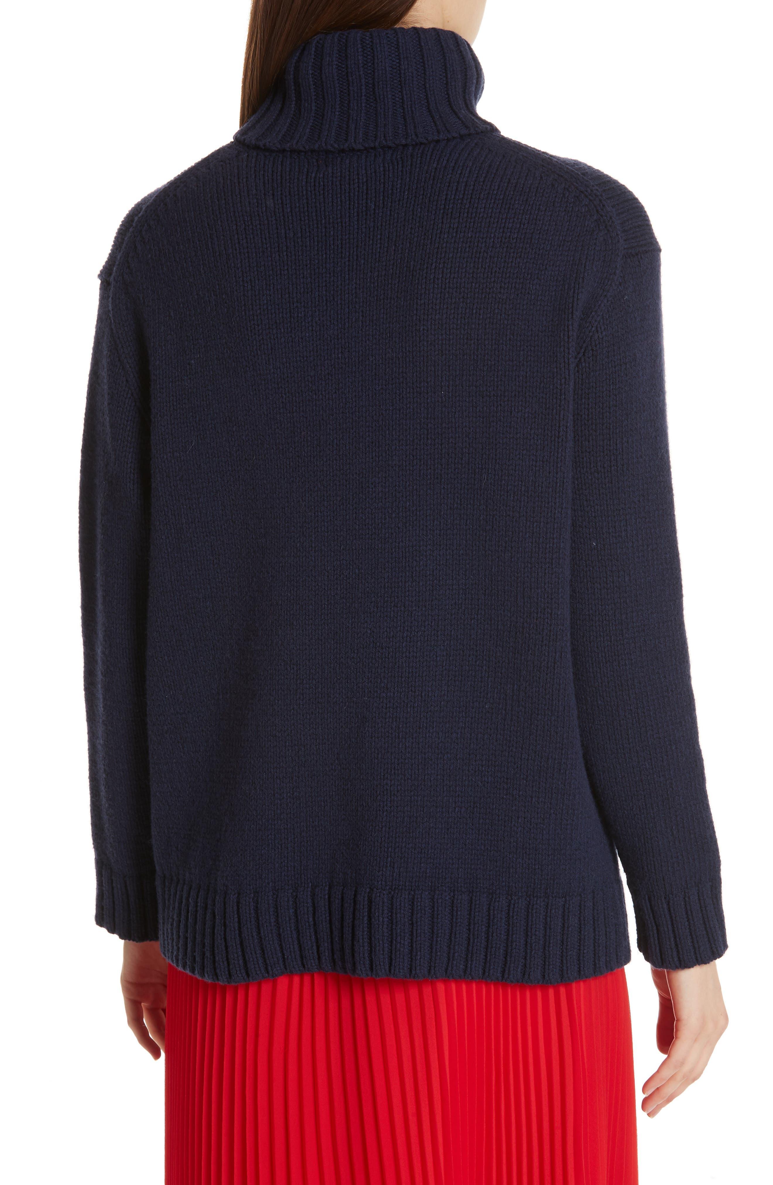Fringe Flag Wool Sweater,                             Alternate thumbnail 2, color,                             NAVY MULTI