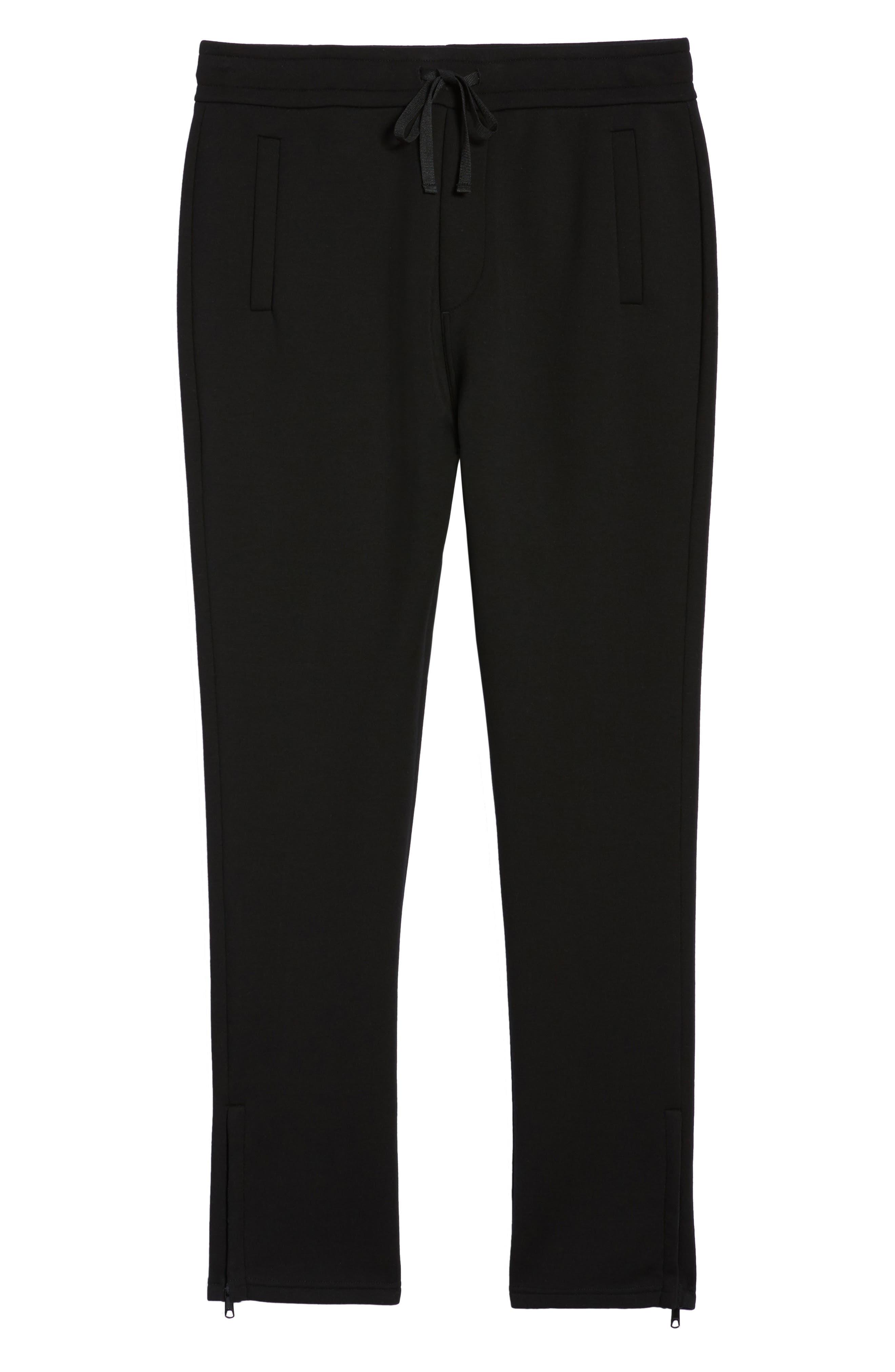VINCE,                             Tech Slim Fit Track Pants,                             Alternate thumbnail 6, color,                             001