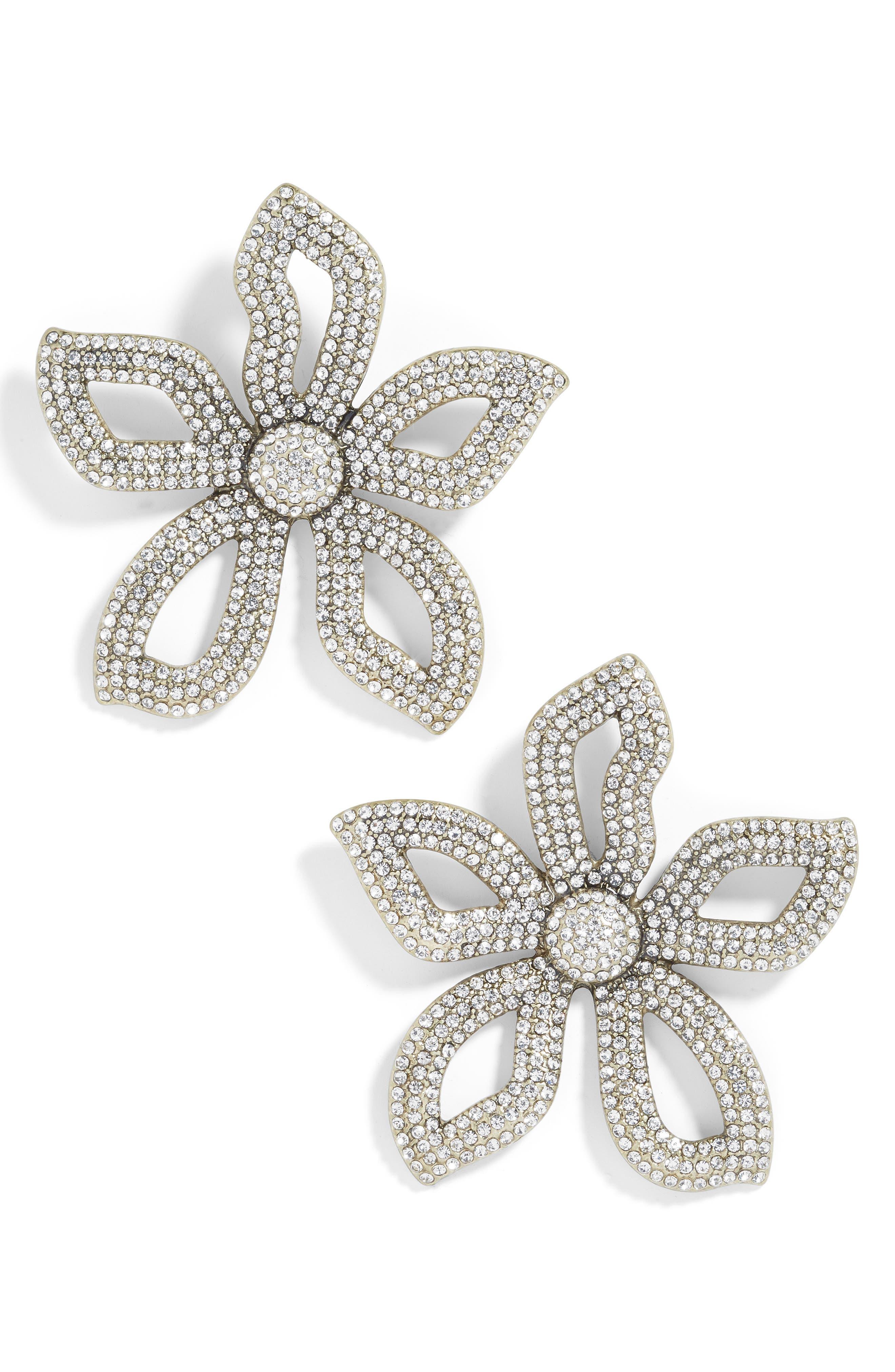 BAUBLEBAR Primina Flower Drop Earrings in Clear
