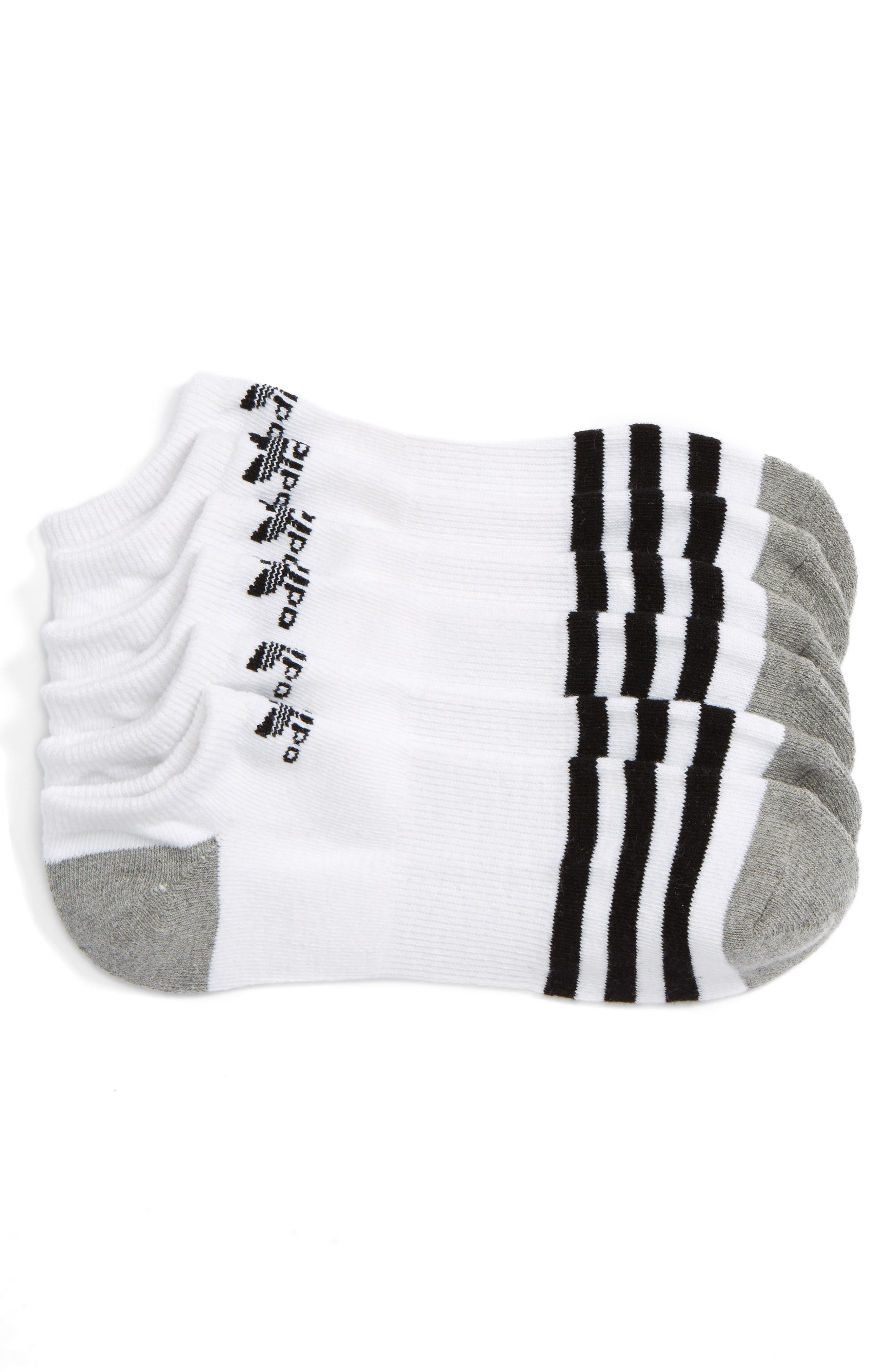 Roller 3-Pack No-Show Socks,                             Main thumbnail 1, color,                             101