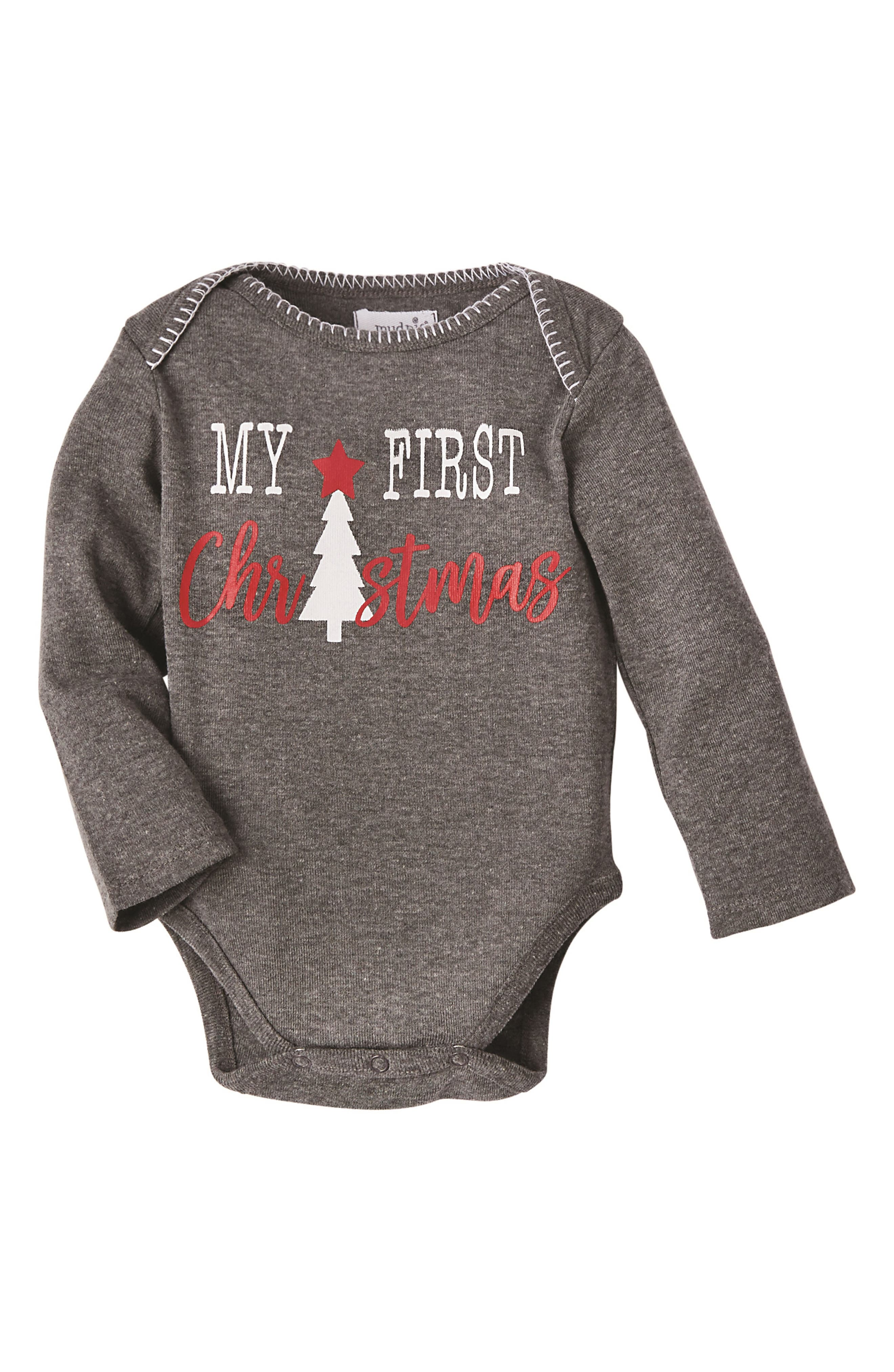 My First Christmas Bodysuit,                             Main thumbnail 1, color,                             600