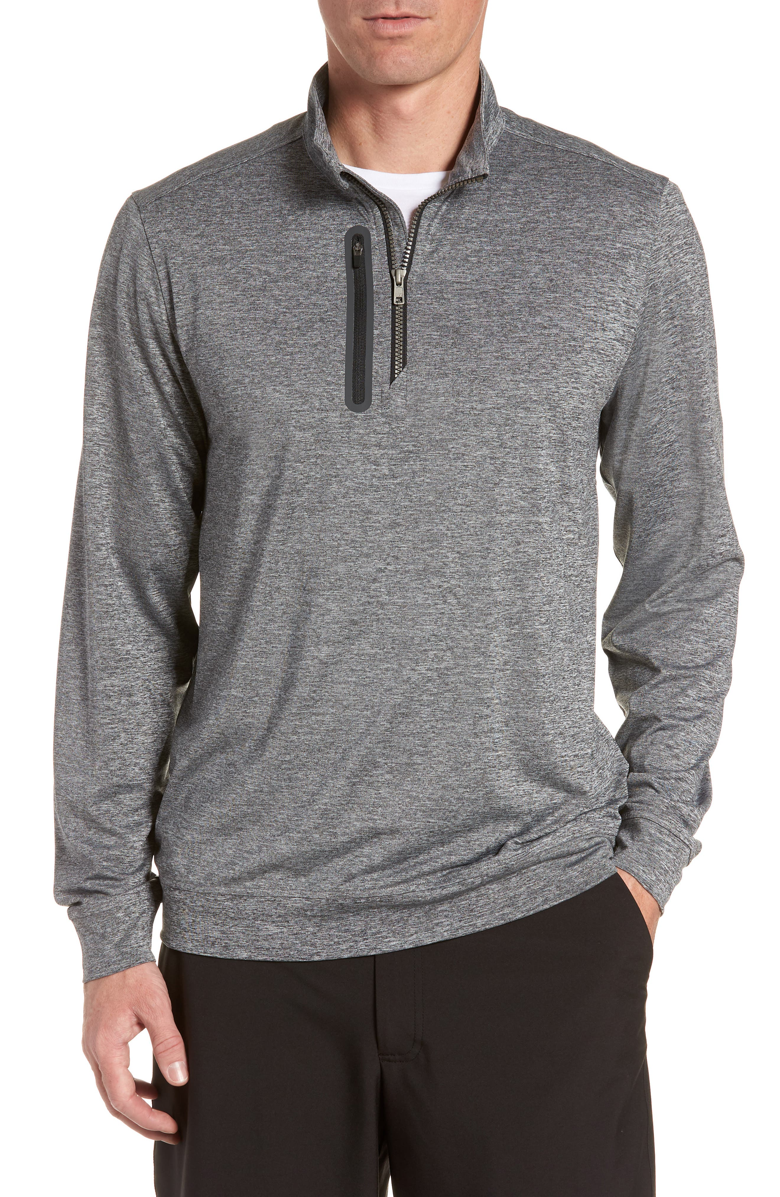 Stealth Regular Fit Half Zip Pullover,                             Main thumbnail 1, color,                             ELEMENTAL GREY