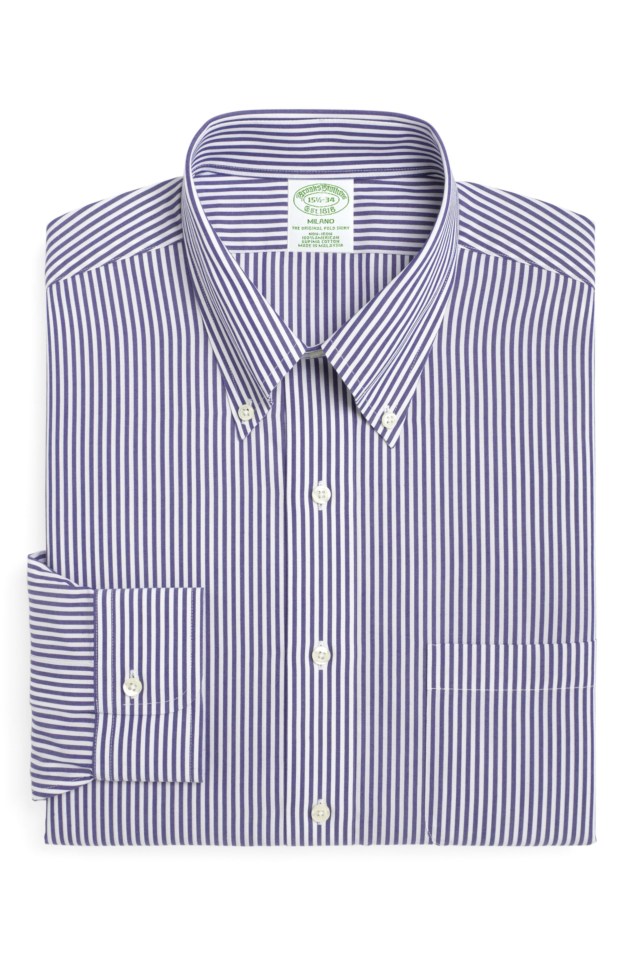 Brooks Brothers Trim Fit Stripe Dress Shirt (3 For $207)