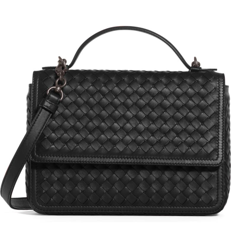 a73b516afe ... boxy structured silhouette of a top-handle bag that s the epitome of  understated elegance. Style Name  Bottega Veneta Intrecciato Leather Handbag .