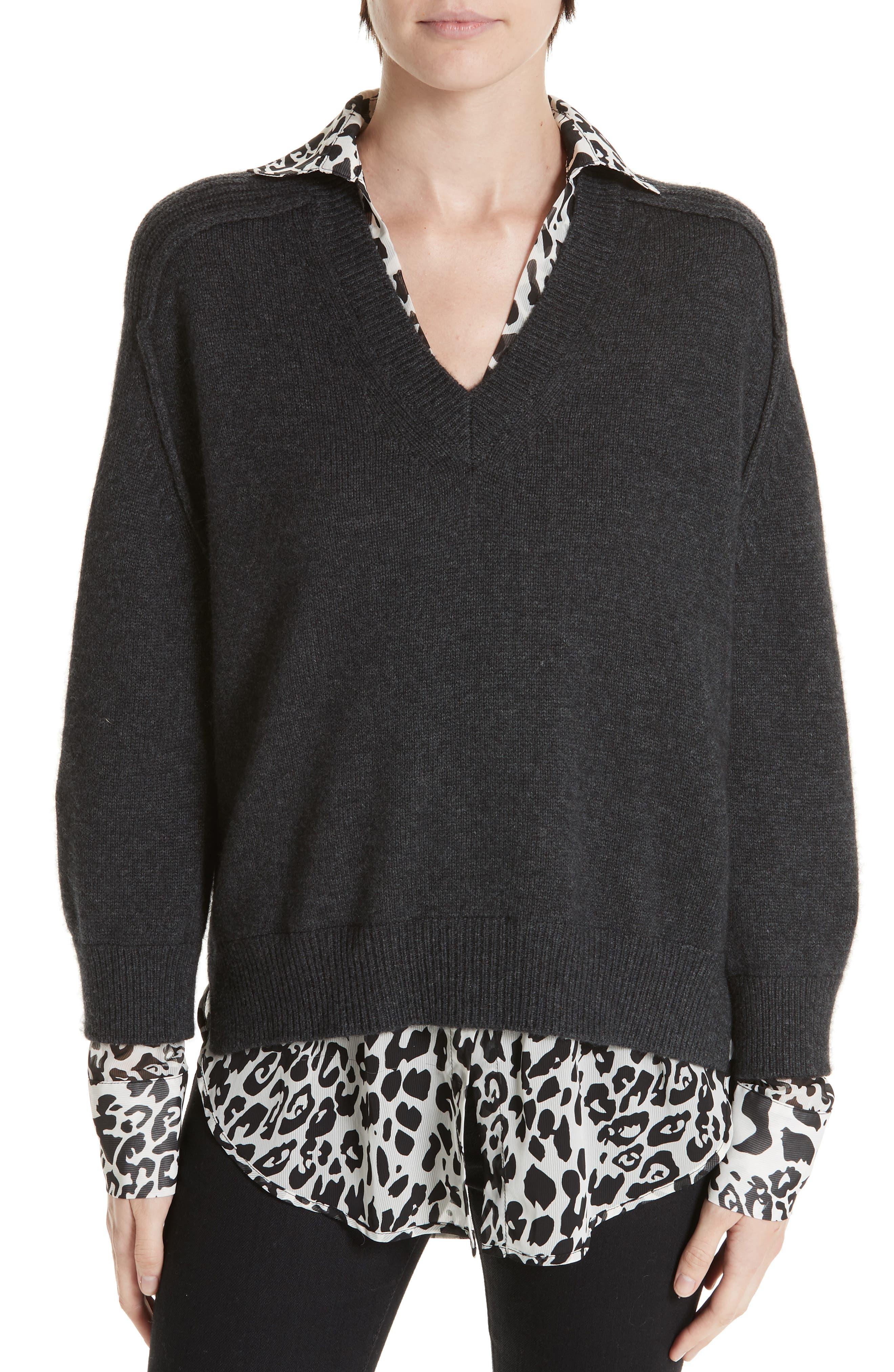 Brochu Walker Layered Wool Cashmere Sweater