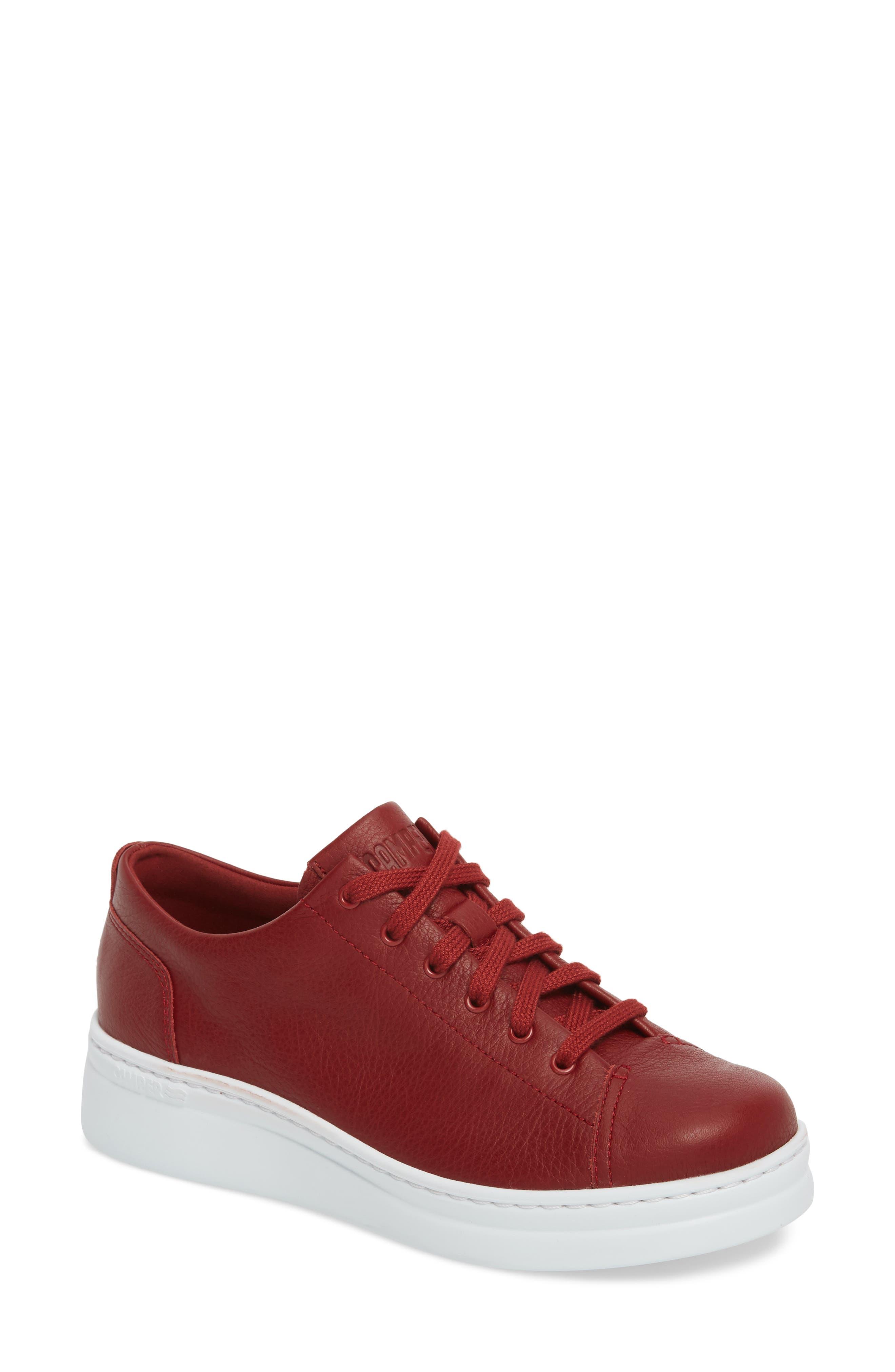 CAMPER Runner Up Sneaker, Main, color, DARK RED LEATHER