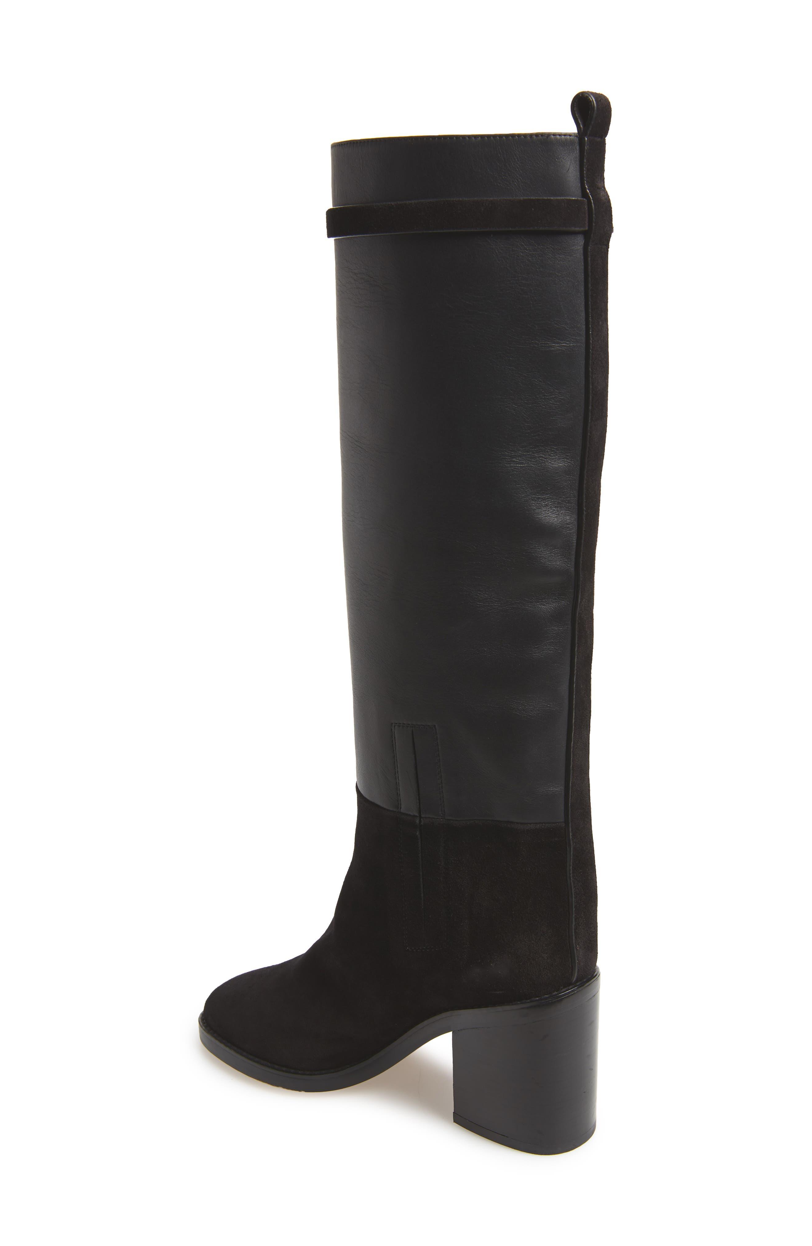 Morrison Knee High Boot,                             Alternate thumbnail 2, color,                             BLACK FEZ