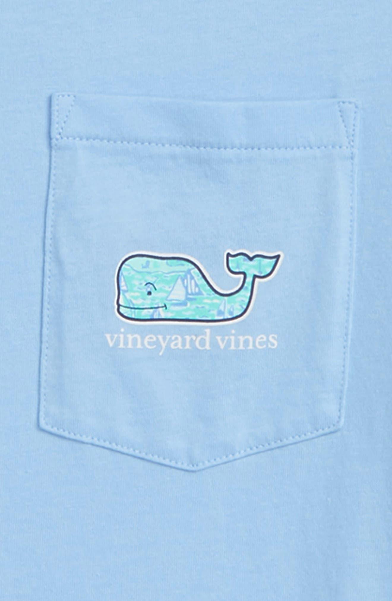 Sailing the Vineyard Whale Pocket T-Shirt,                             Alternate thumbnail 3, color,                             456