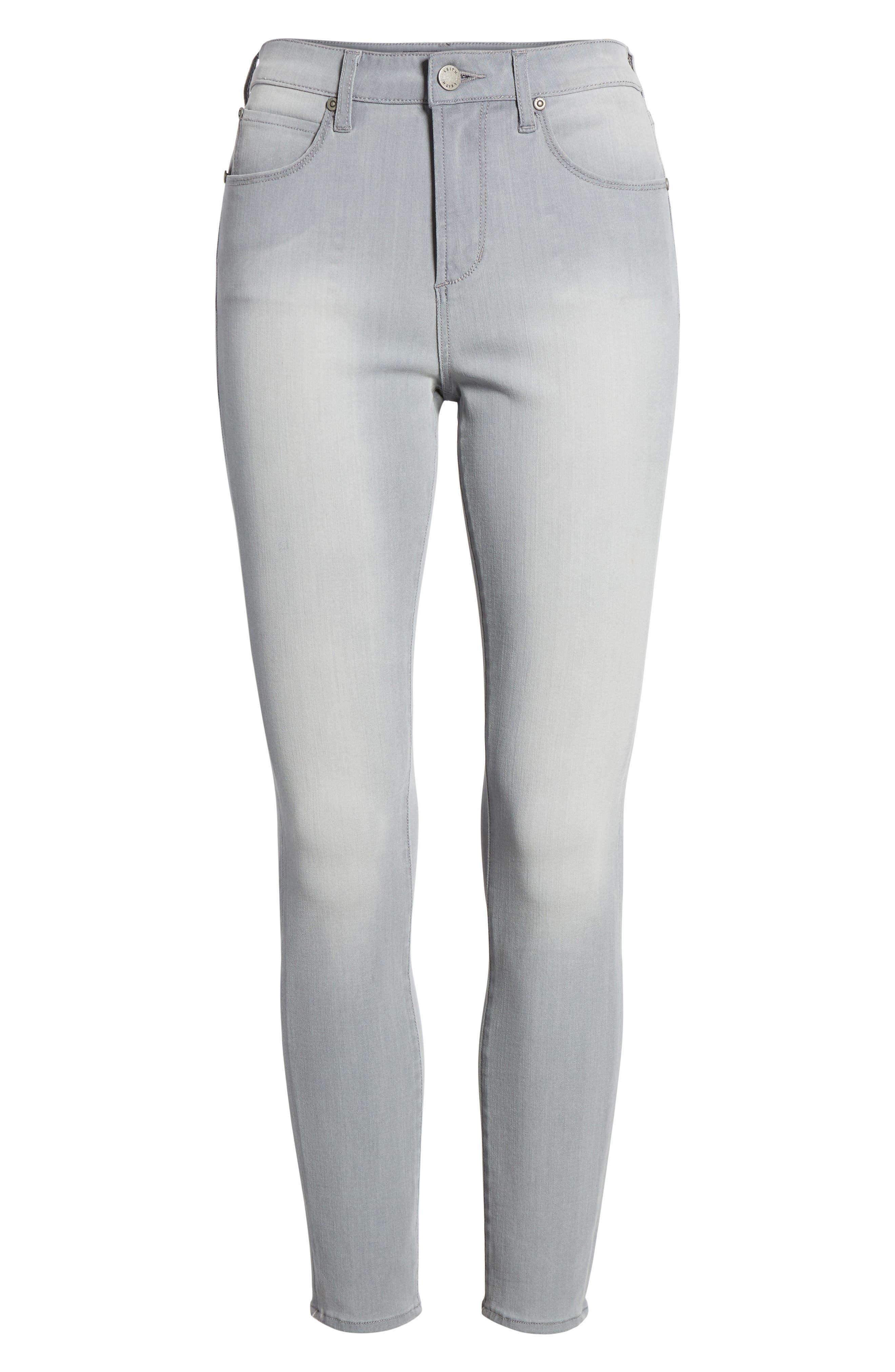 High Waist Skinny Jeans,                             Alternate thumbnail 7, color,                             030