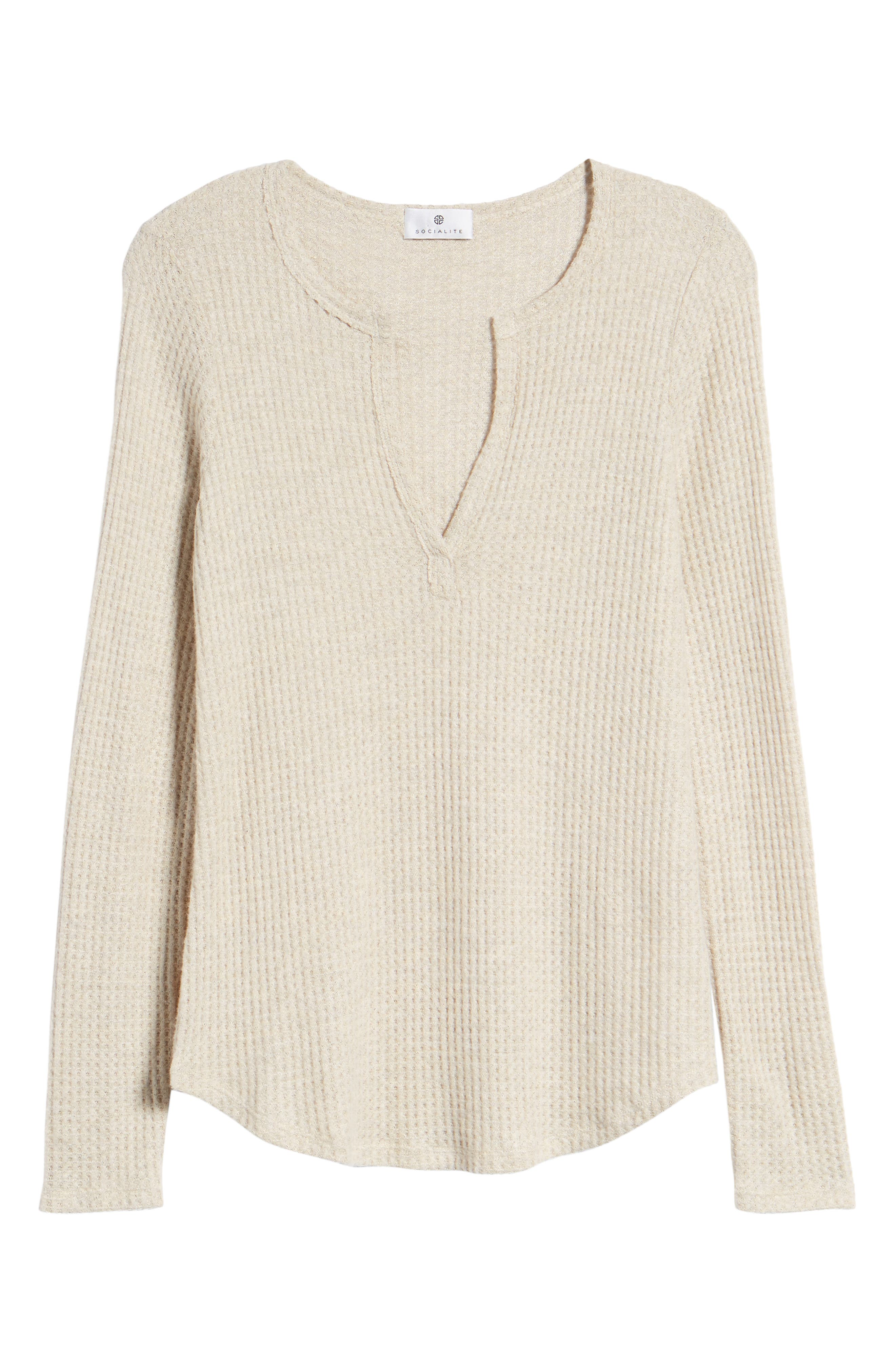 Thermal Henley Top,                             Alternate thumbnail 7, color,                             OATMEAL