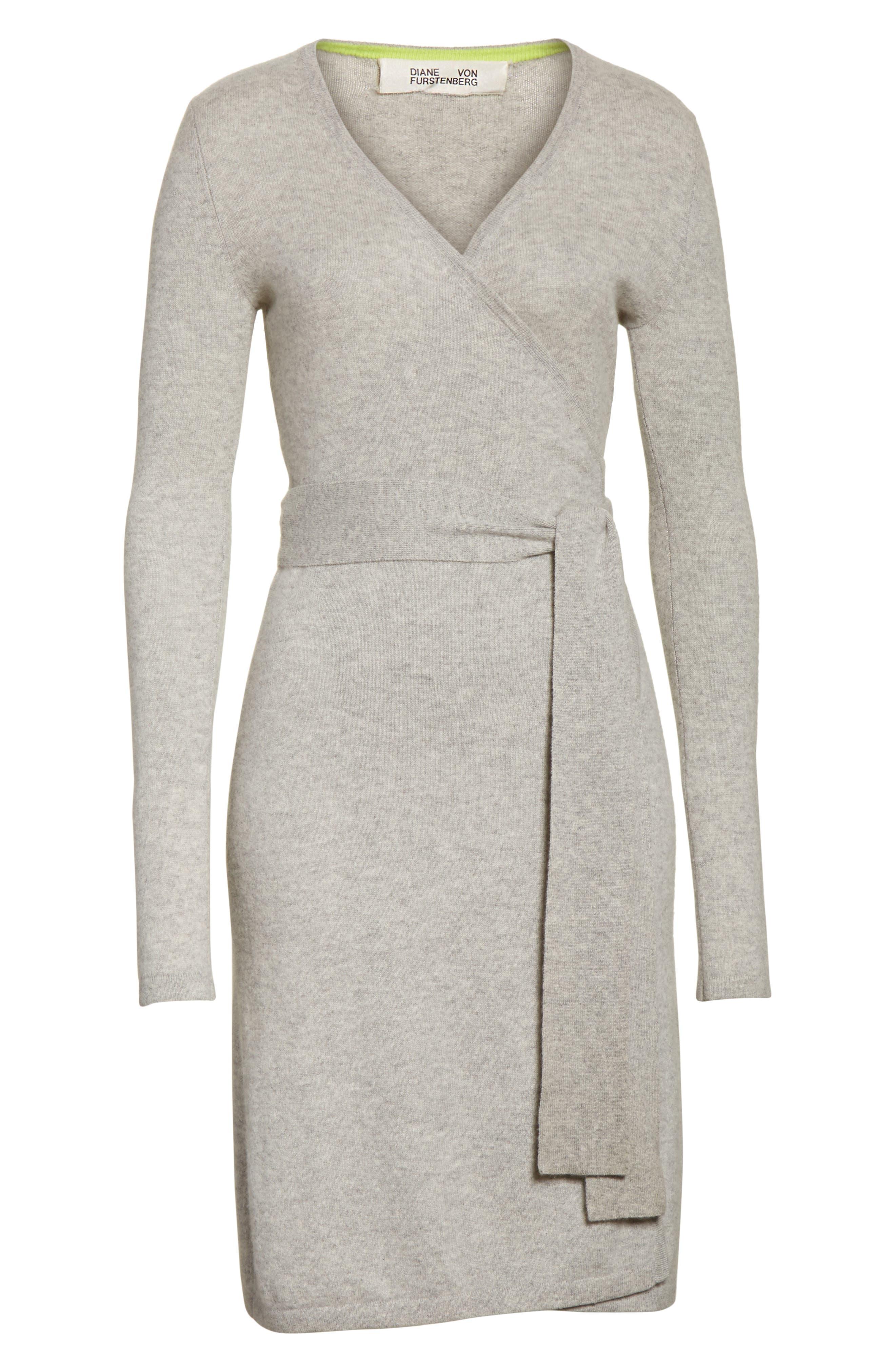 Diane Von Furstenberg Linda Cashmere Wrap Dress,                             Alternate thumbnail 12, color,