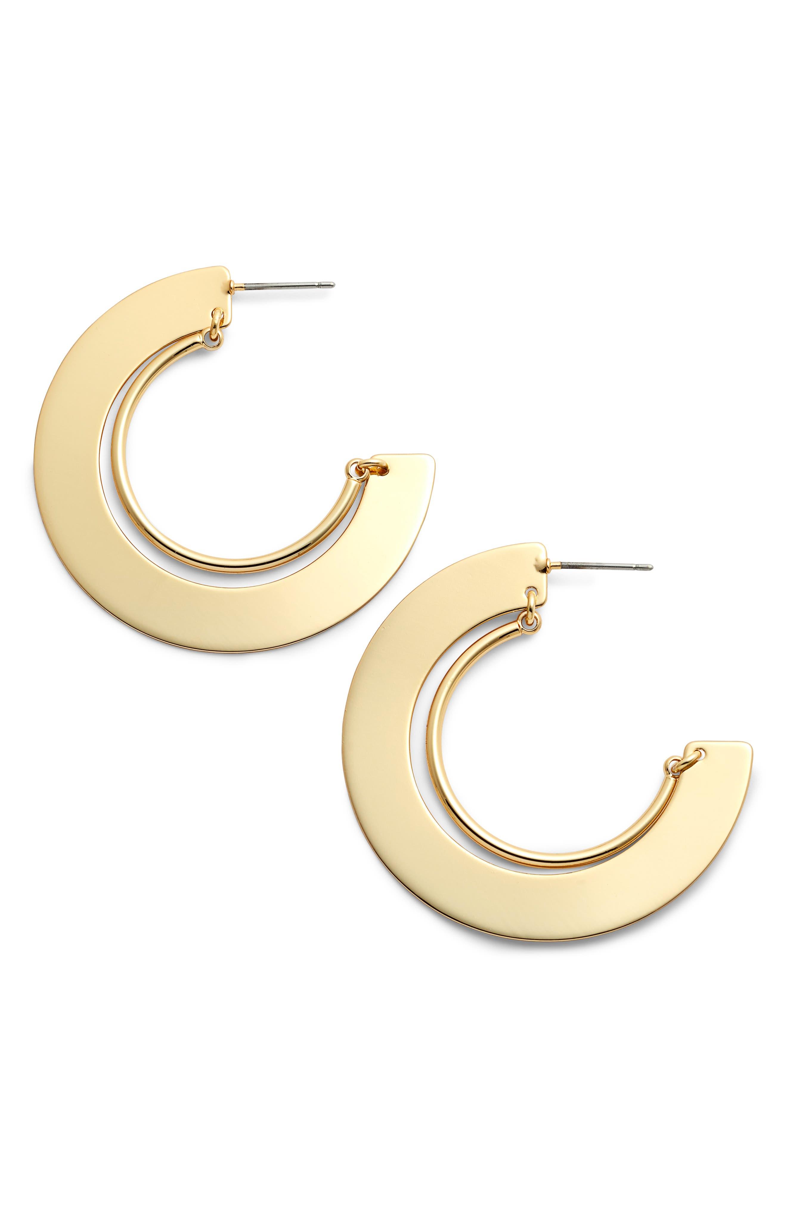 Uma Nested Hoop Earrings,                         Main,                         color, GOLD