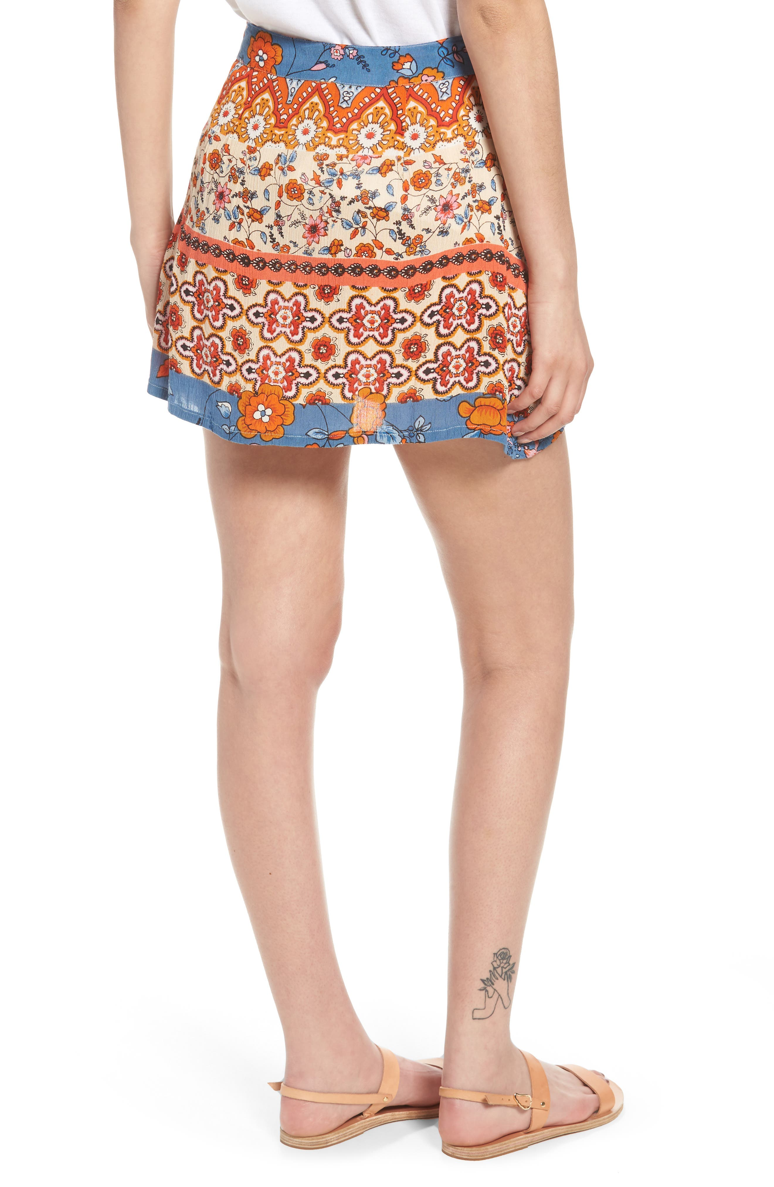 Sun Daze Mixed Print Skirt,                             Alternate thumbnail 2, color,