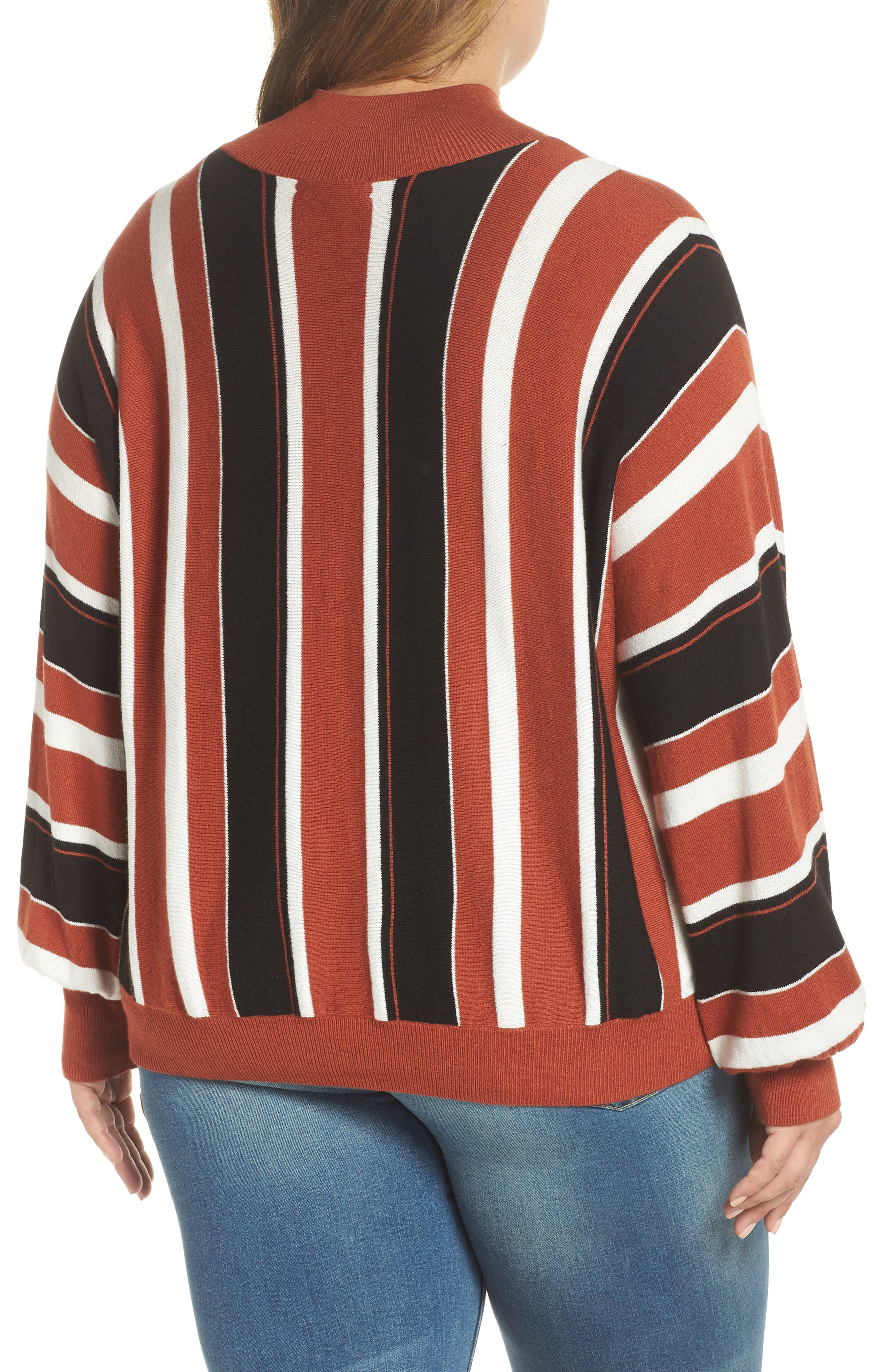 Stripe Dolman Sleeve Sweater,                             Alternate thumbnail 8, color,                             210