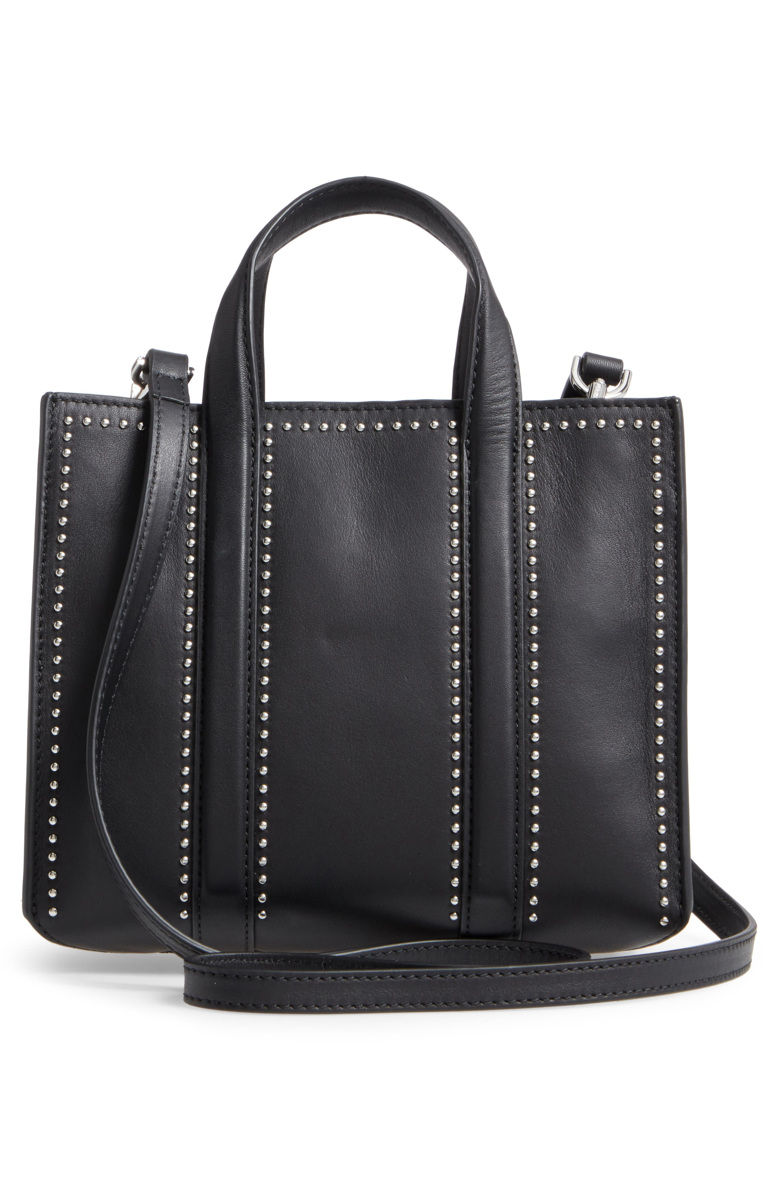 Mini Kyra Nappa Leather Tote,                             Alternate thumbnail 3, color,                             001