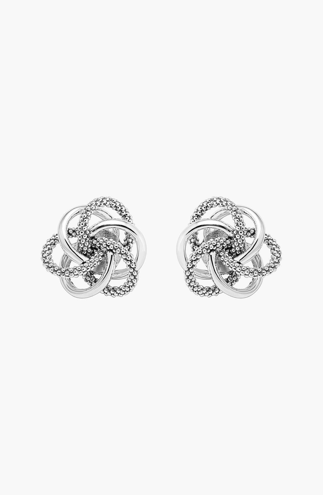Caviar<sup>™</sup> Stud Earrings,                             Alternate thumbnail 5, color,                             STERLING SILVER