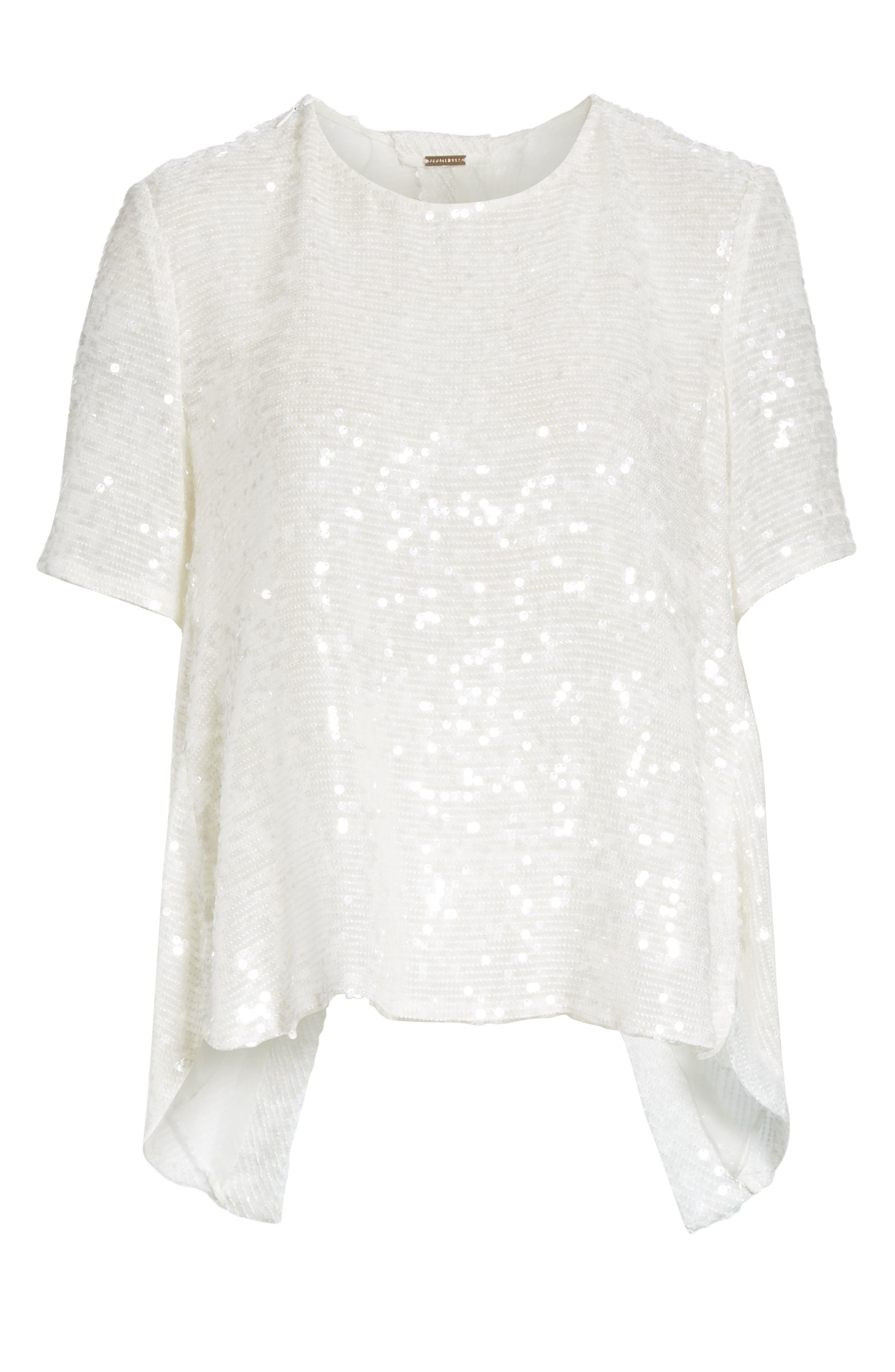 ADAM LIPPES,                             Open Back Sequin Embroidered Blouse,                             Alternate thumbnail 6, color,                             906