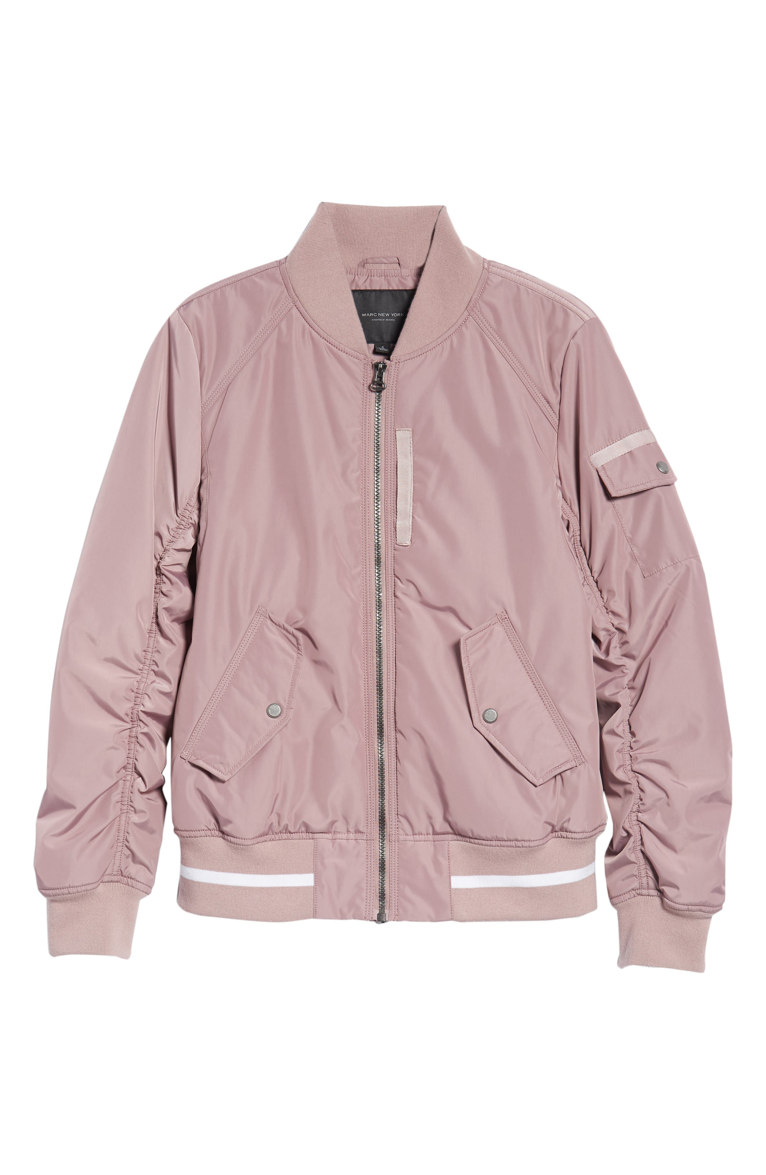 Foster Nylon Twill Bomber Jacket,                             Alternate thumbnail 17, color,