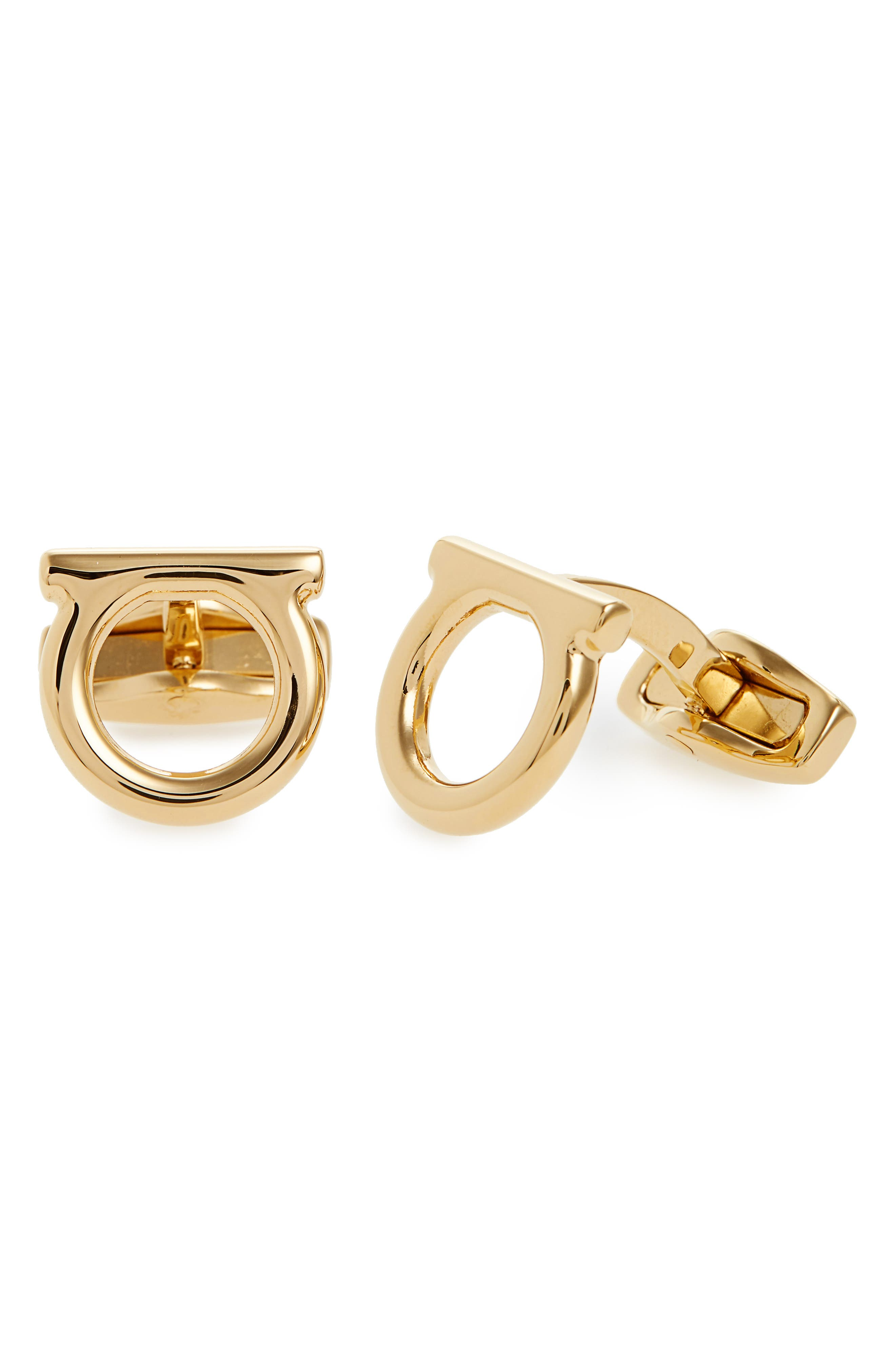 Single Gancio Cuff Links,                         Main,                         color, ORO/ GOLD
