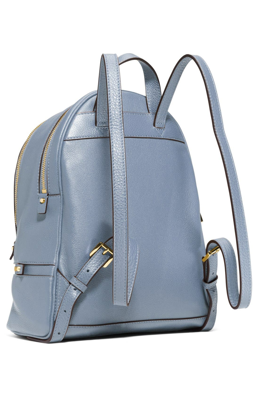 'Extra Small Rhea Zip' Leather Backpack,                             Alternate thumbnail 23, color,