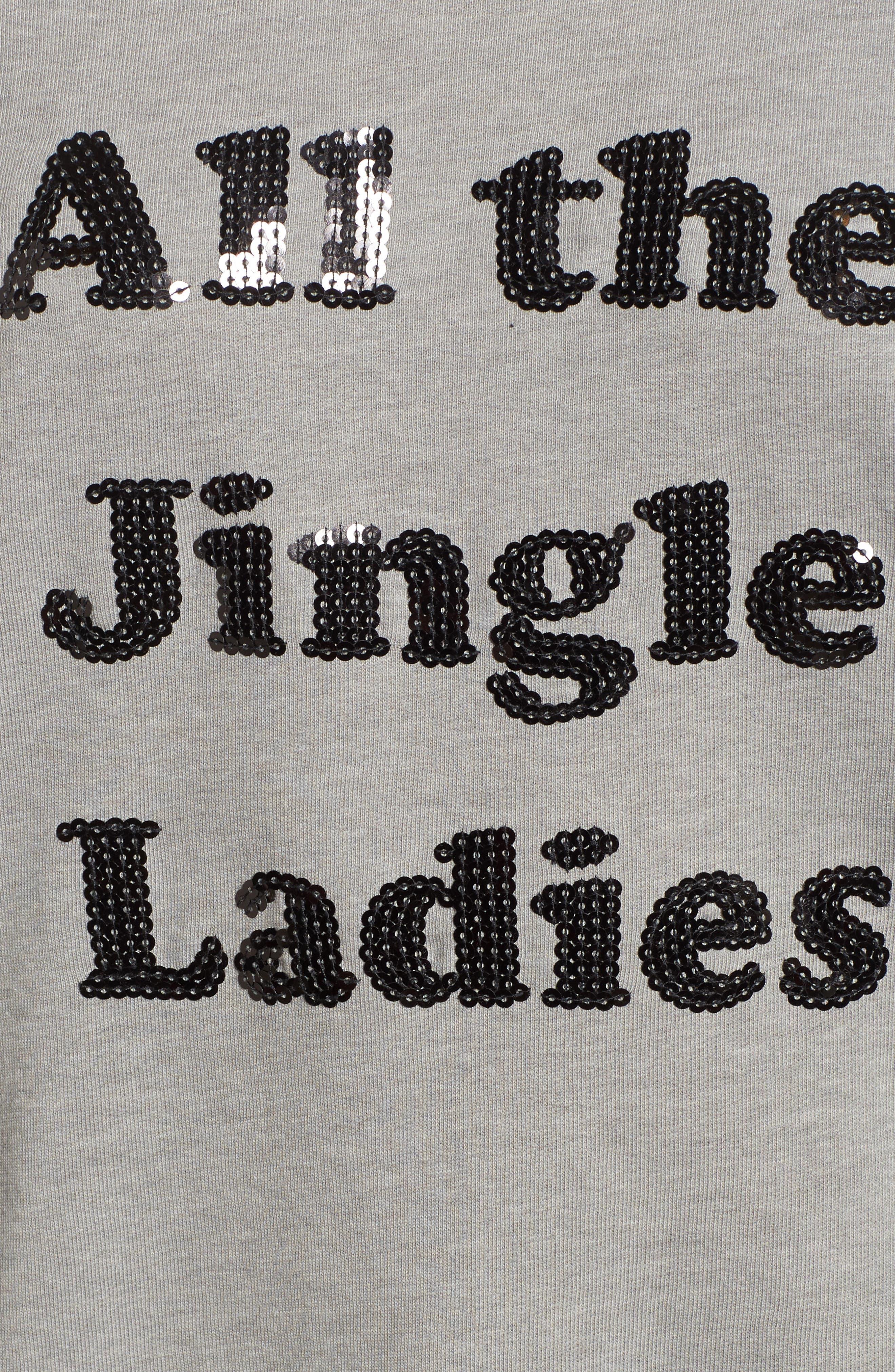 All the Jingle Ladies Sweatshirt,                             Alternate thumbnail 5, color,                             020