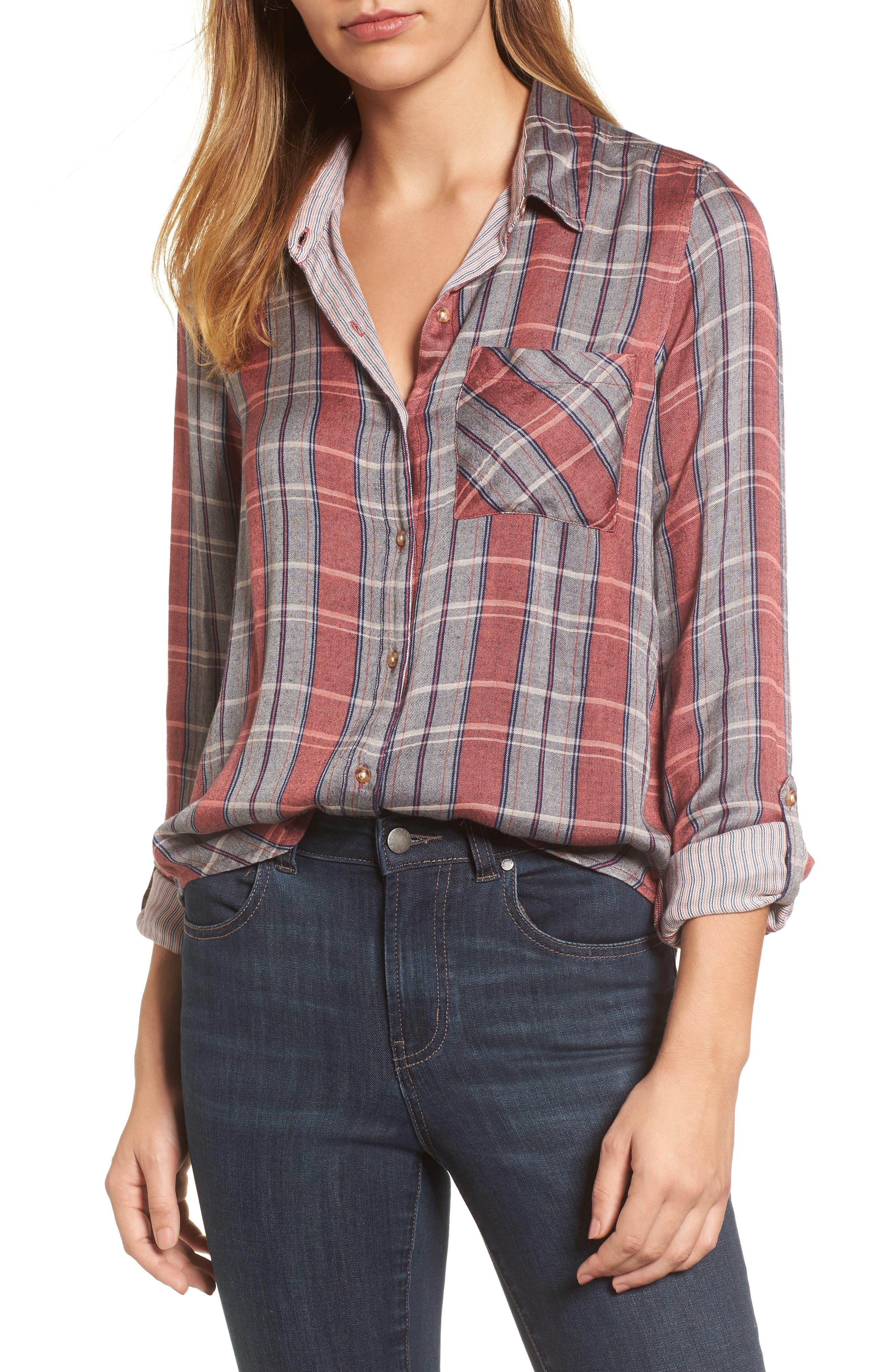 Plaid Pocket Shirt,                             Main thumbnail 1, color,                             065