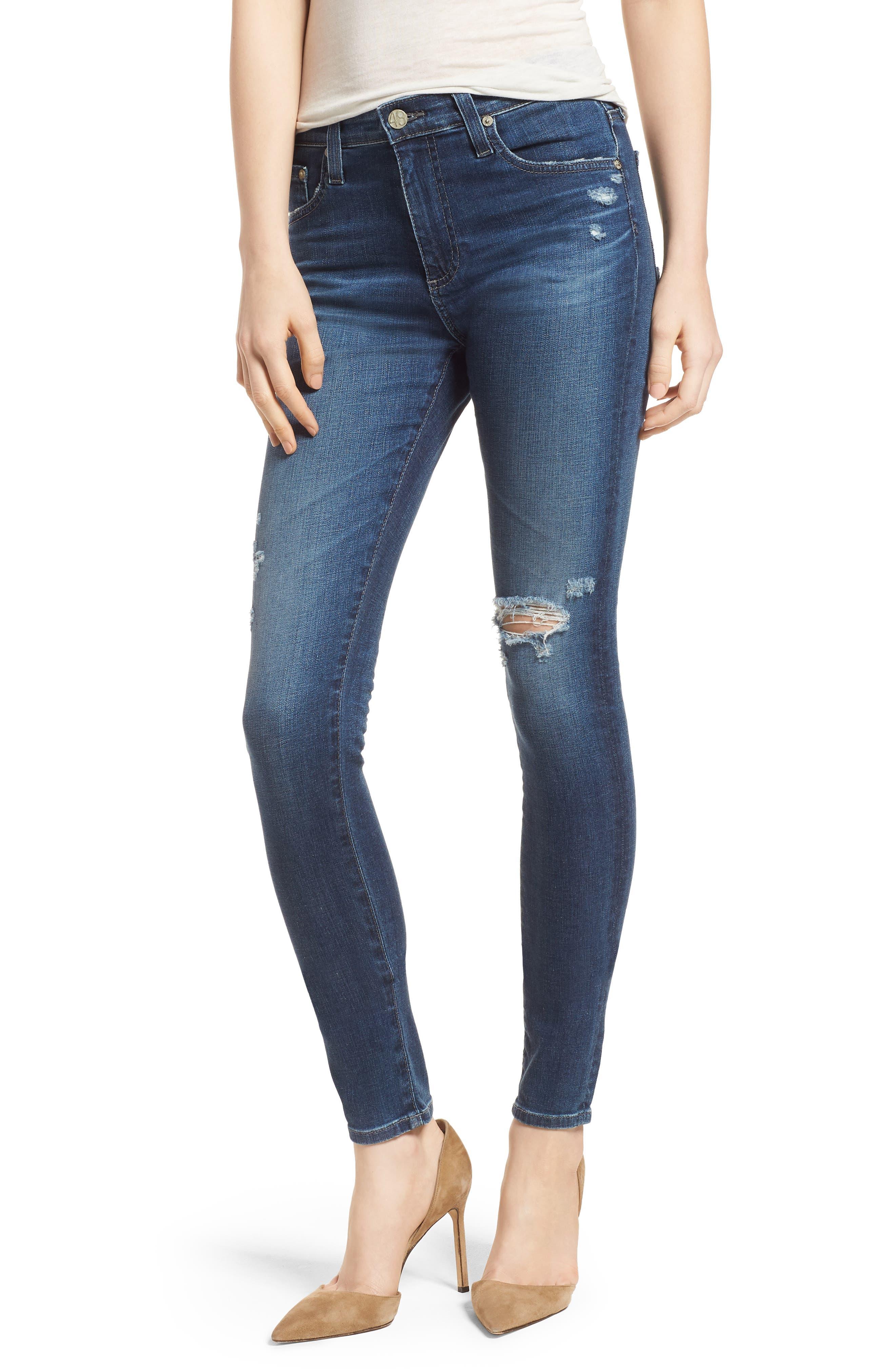 'The Farrah' High Rise Skinny Jeans,                             Main thumbnail 3, color,
