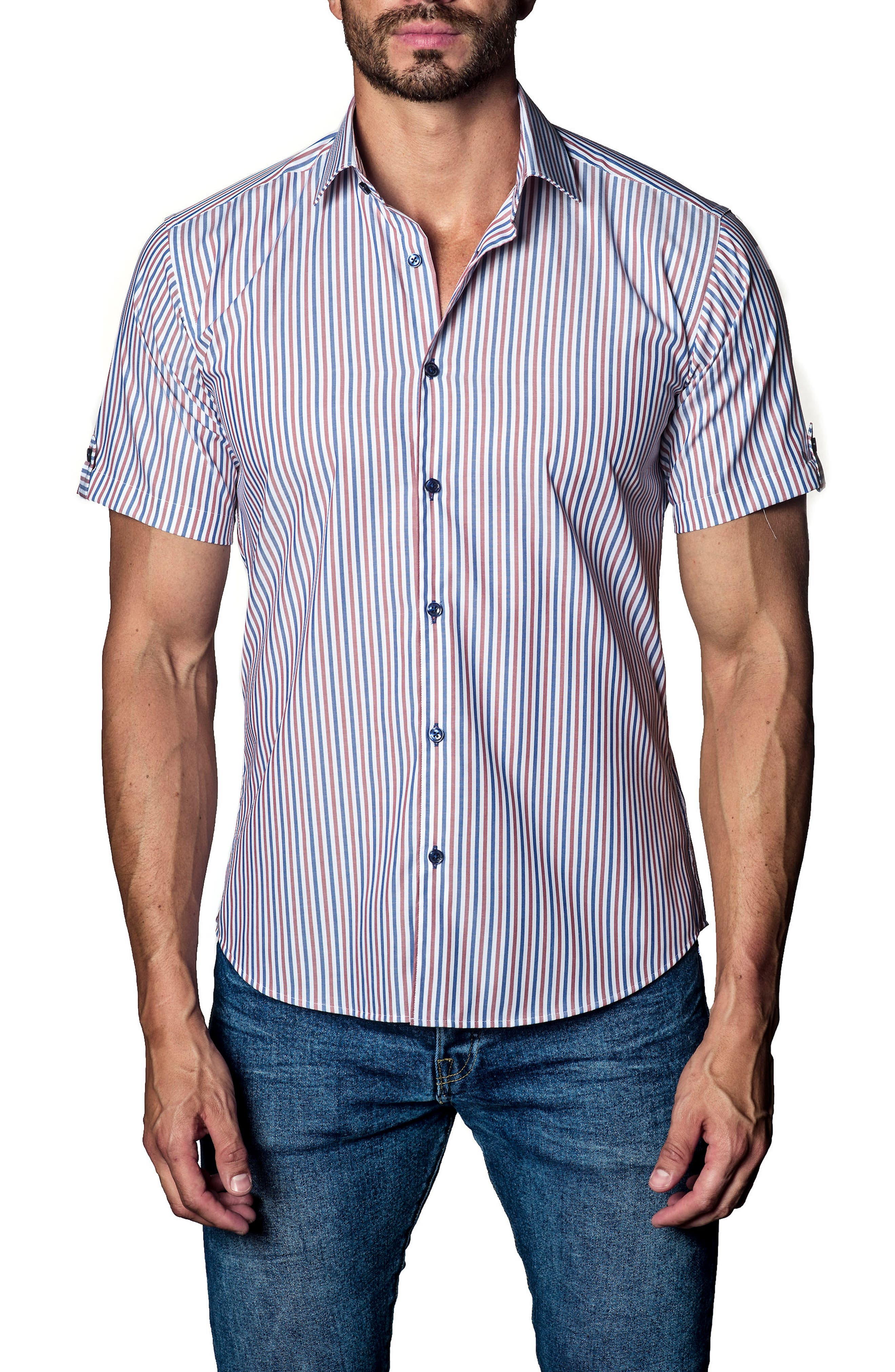 Stripe Sport Shirt,                             Main thumbnail 1, color,