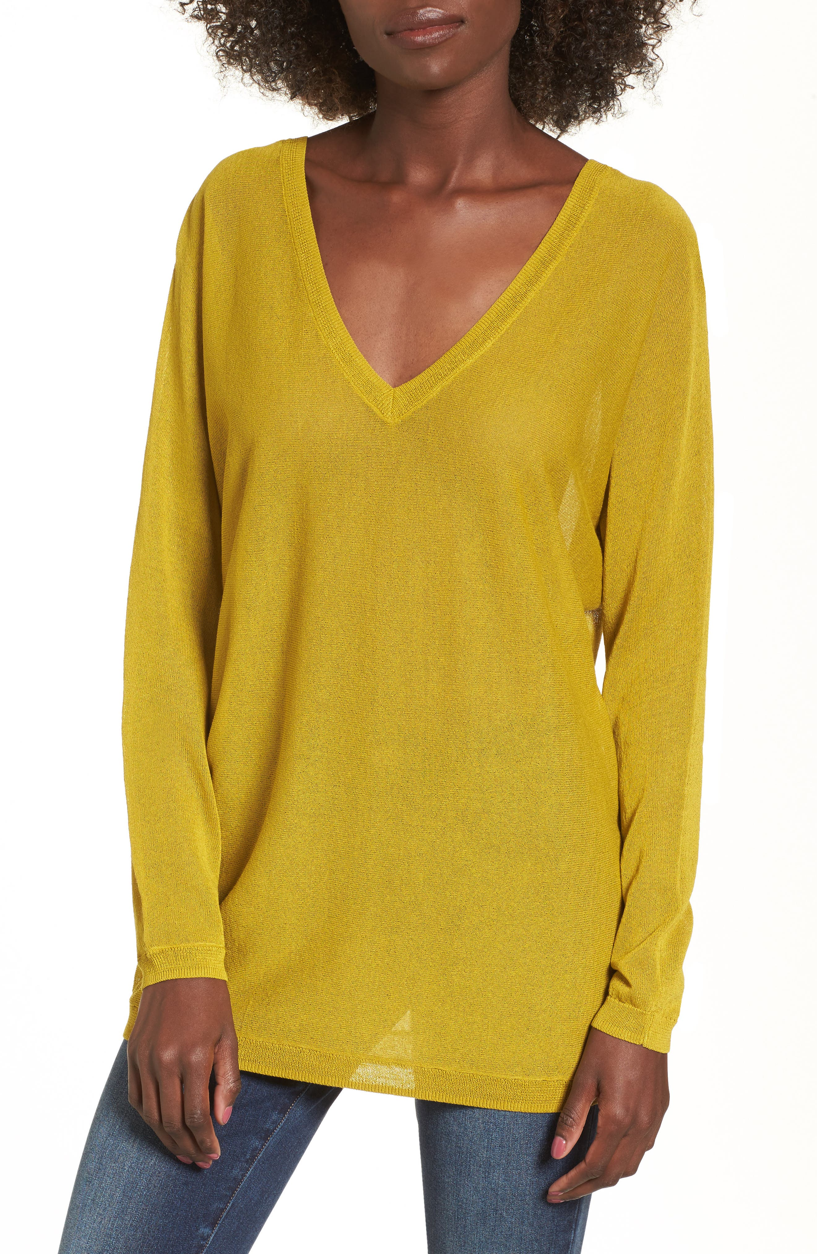 Double V-Neck Sweater,                             Main thumbnail 2, color,