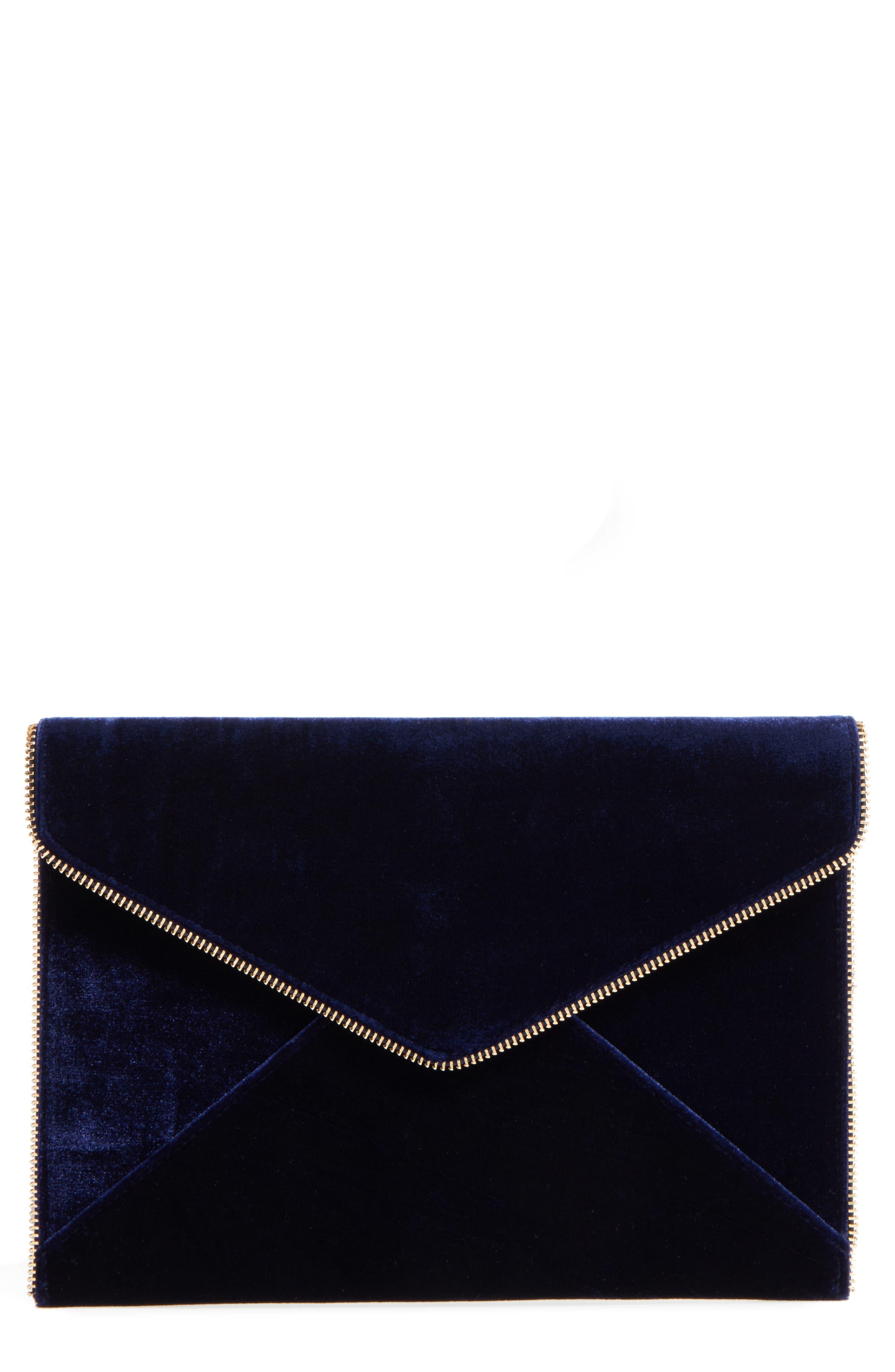 Leo Velvet Envelope Clutch,                             Alternate thumbnail 15, color,