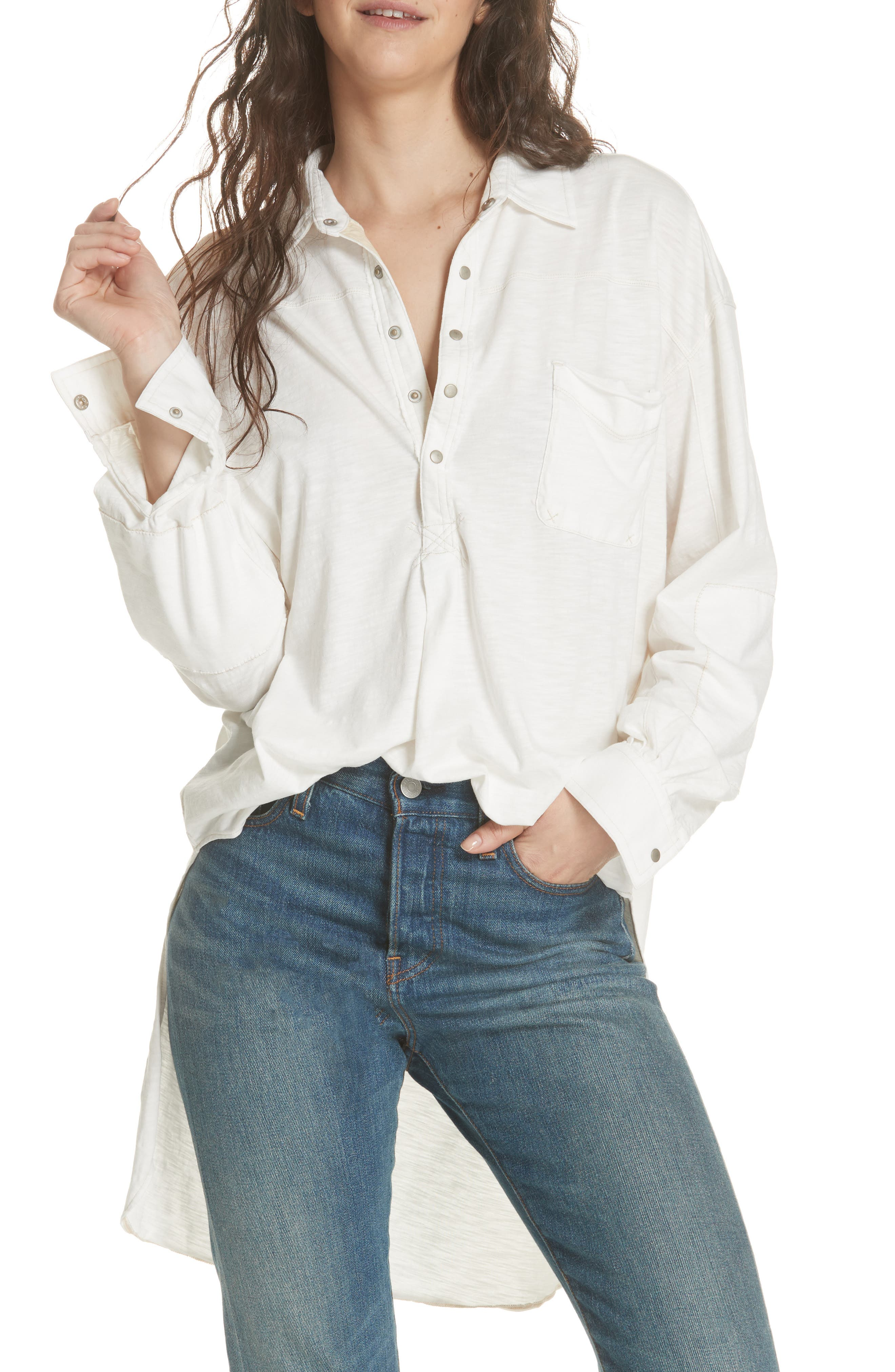 We the Free by Free People Love This Cotton Henley Top,                             Main thumbnail 1, color,                             103