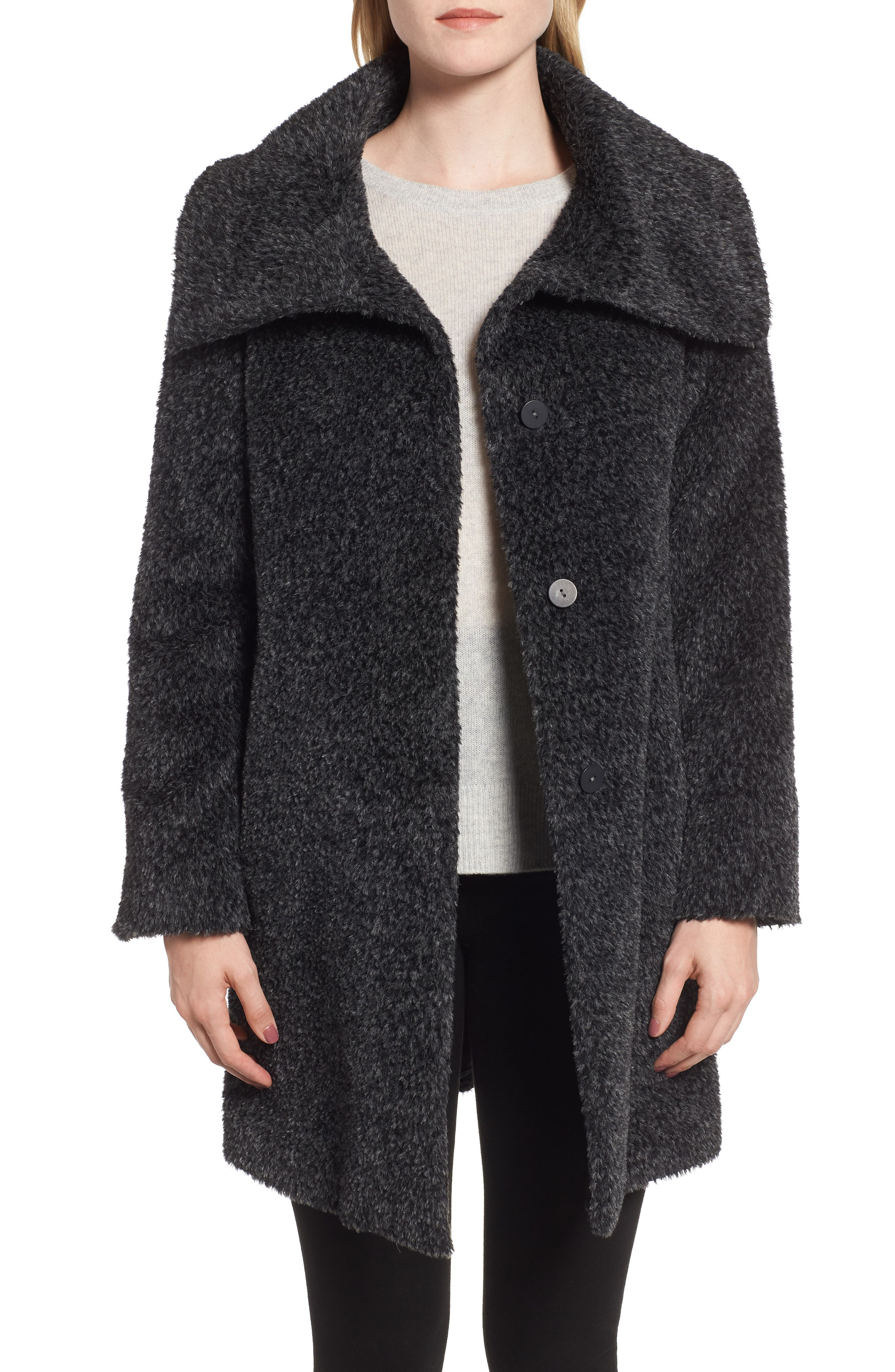 MAX MARA STUDIO Gregory Alpaca & Wool Coat, Main, color, 023