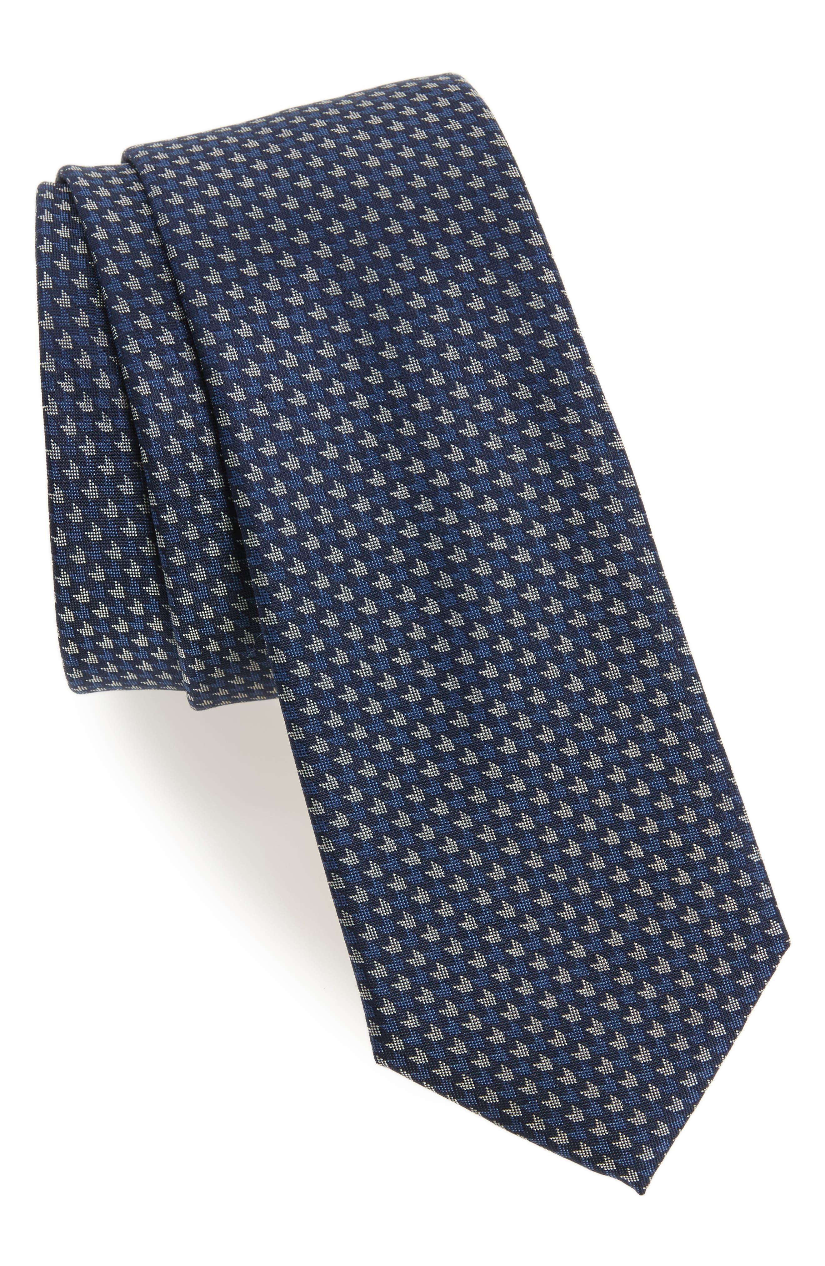 One Way Neat Silk Tie,                         Main,                         color,