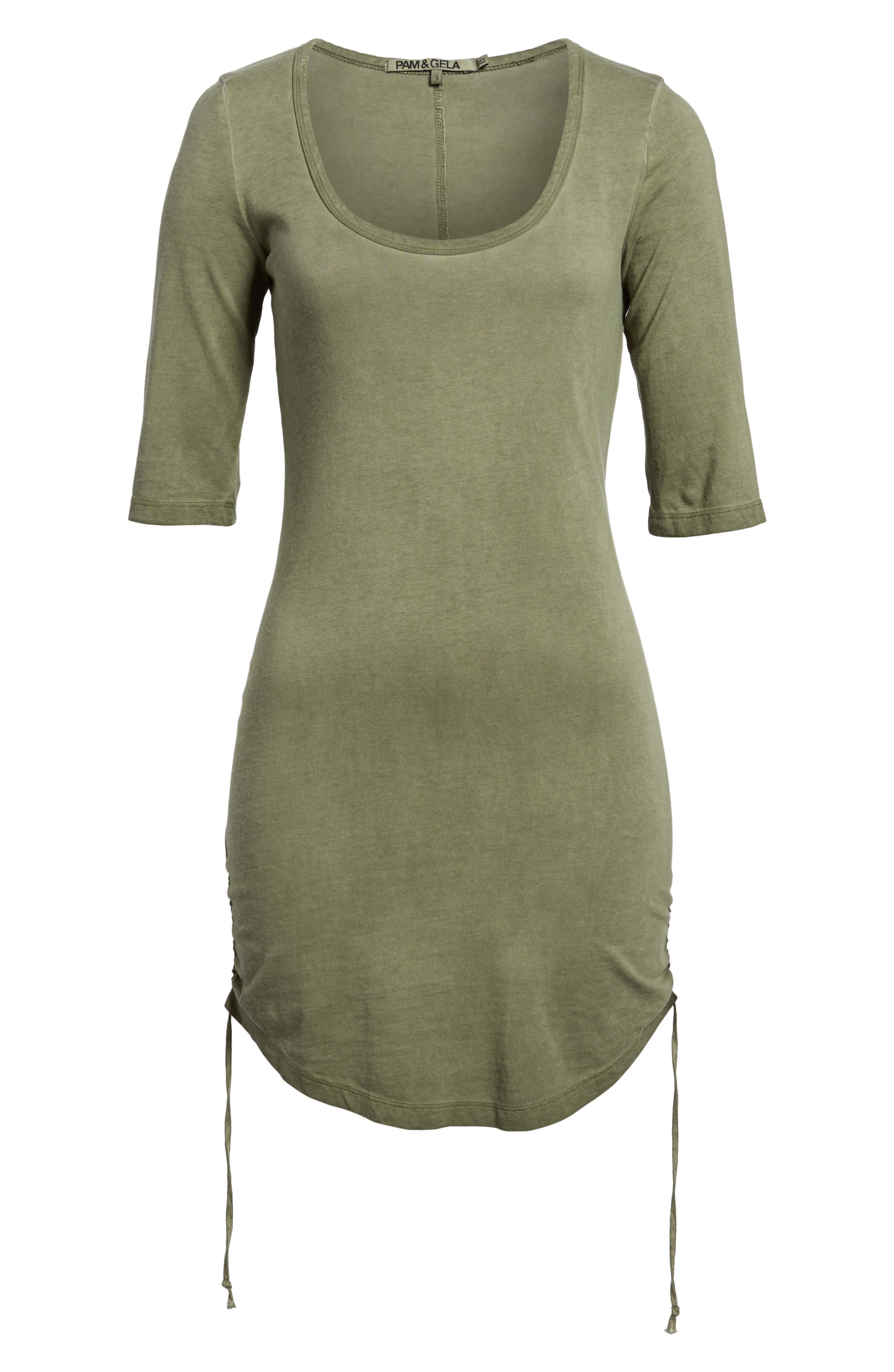 Ruched Body-Con Dress,                             Alternate thumbnail 12, color,
