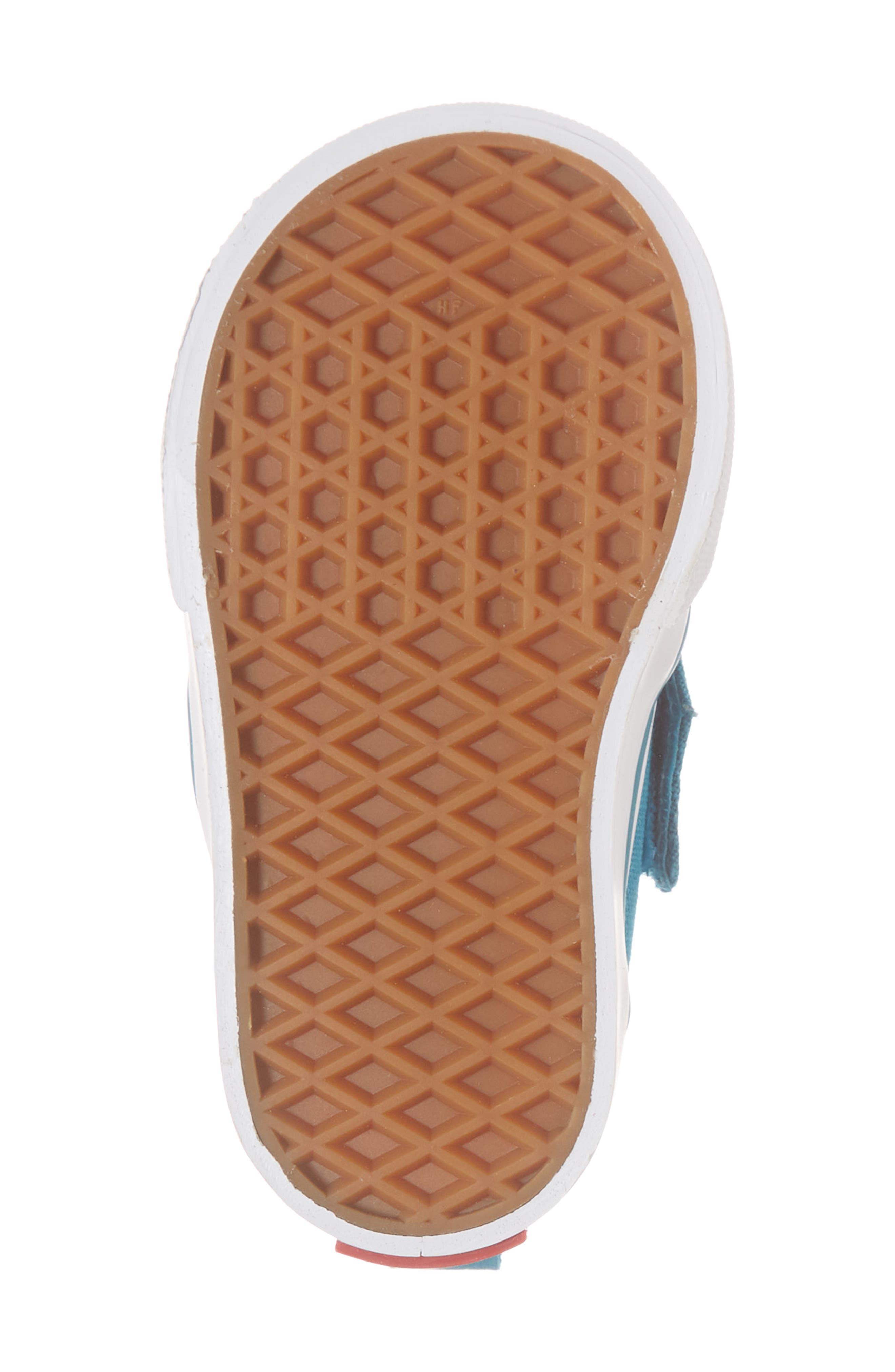 Slip-On Crib Shoe,                             Alternate thumbnail 6, color,                             ENAMEL BLUE/ SHARP GREEN