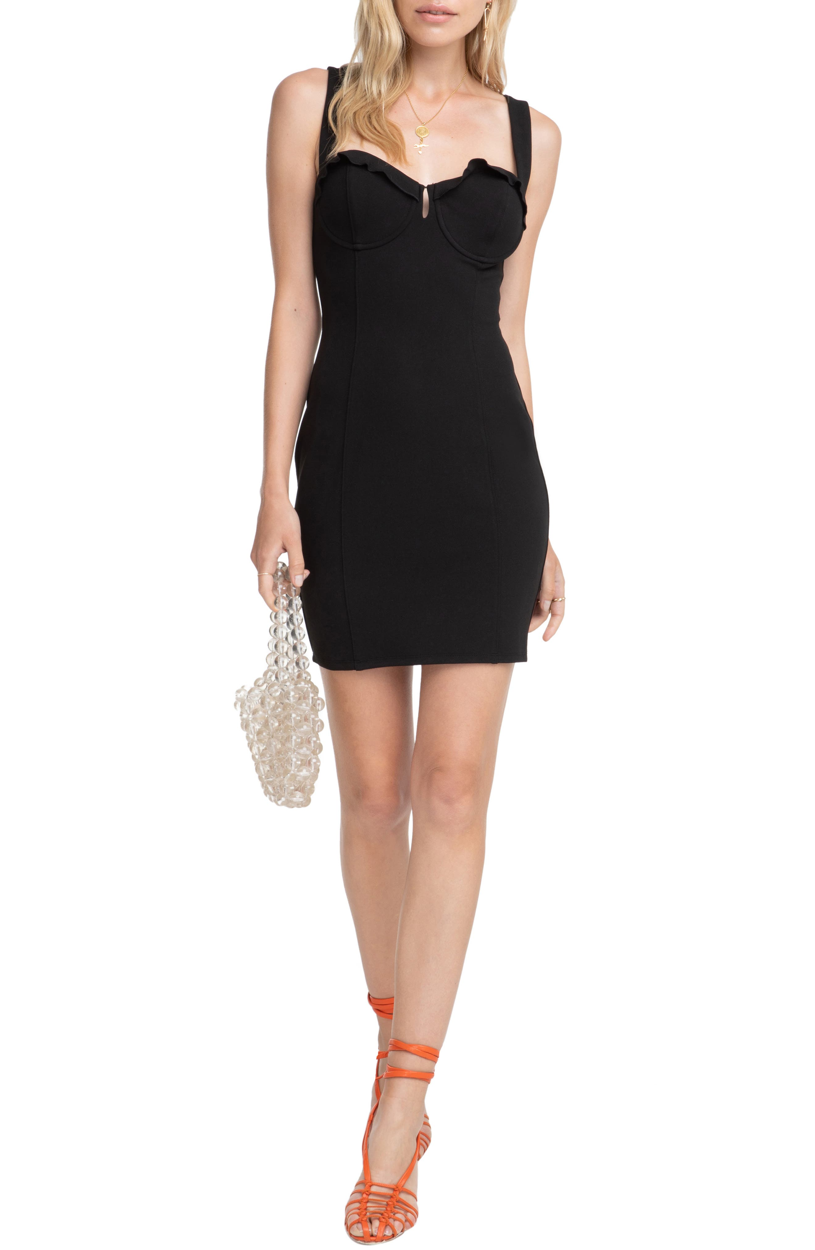 Astr The Label Emory Minidress, Black