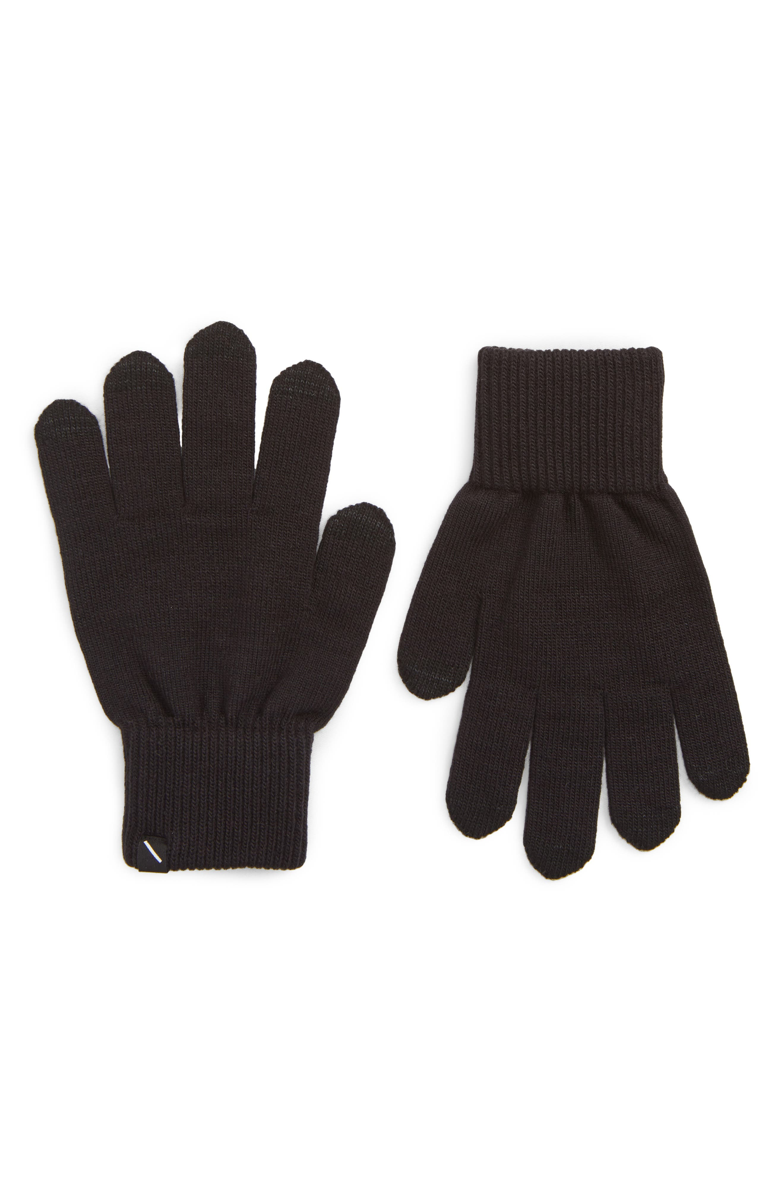 Dylan Touchscreen Gloves,                             Main thumbnail 1, color,                             BLACK