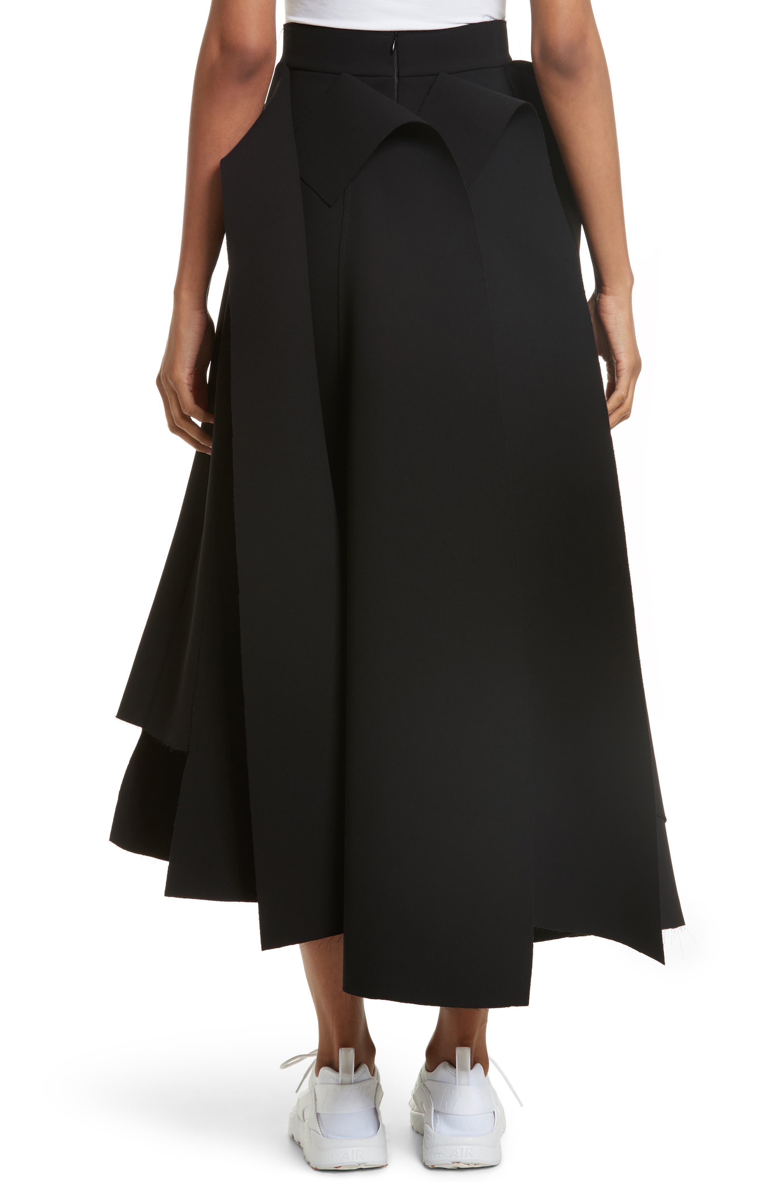 Asymmetric Panel Skirt,                             Alternate thumbnail 2, color,