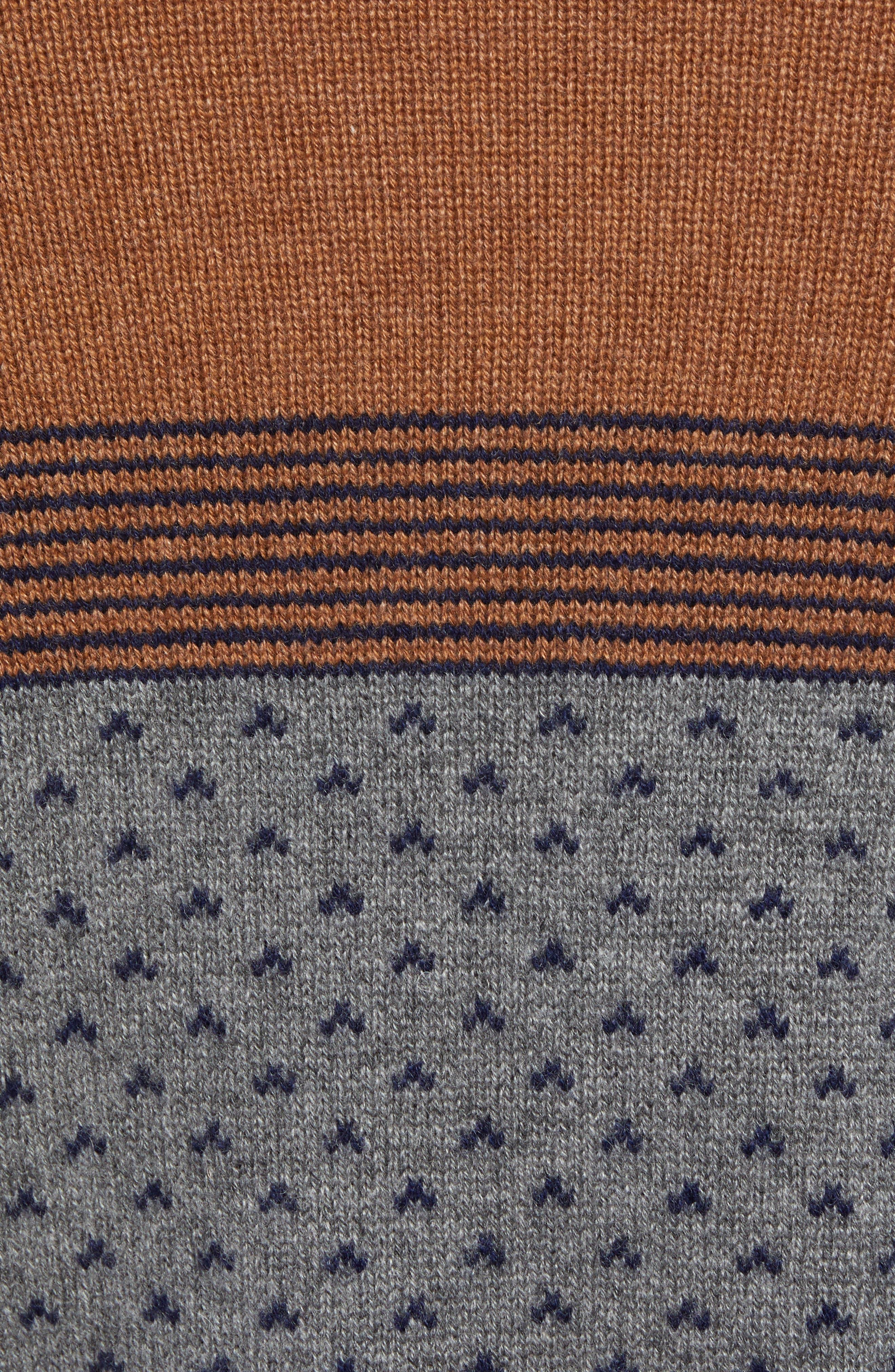 Trim Fit Cashmere Sweater,                             Alternate thumbnail 5, color,                             GREY