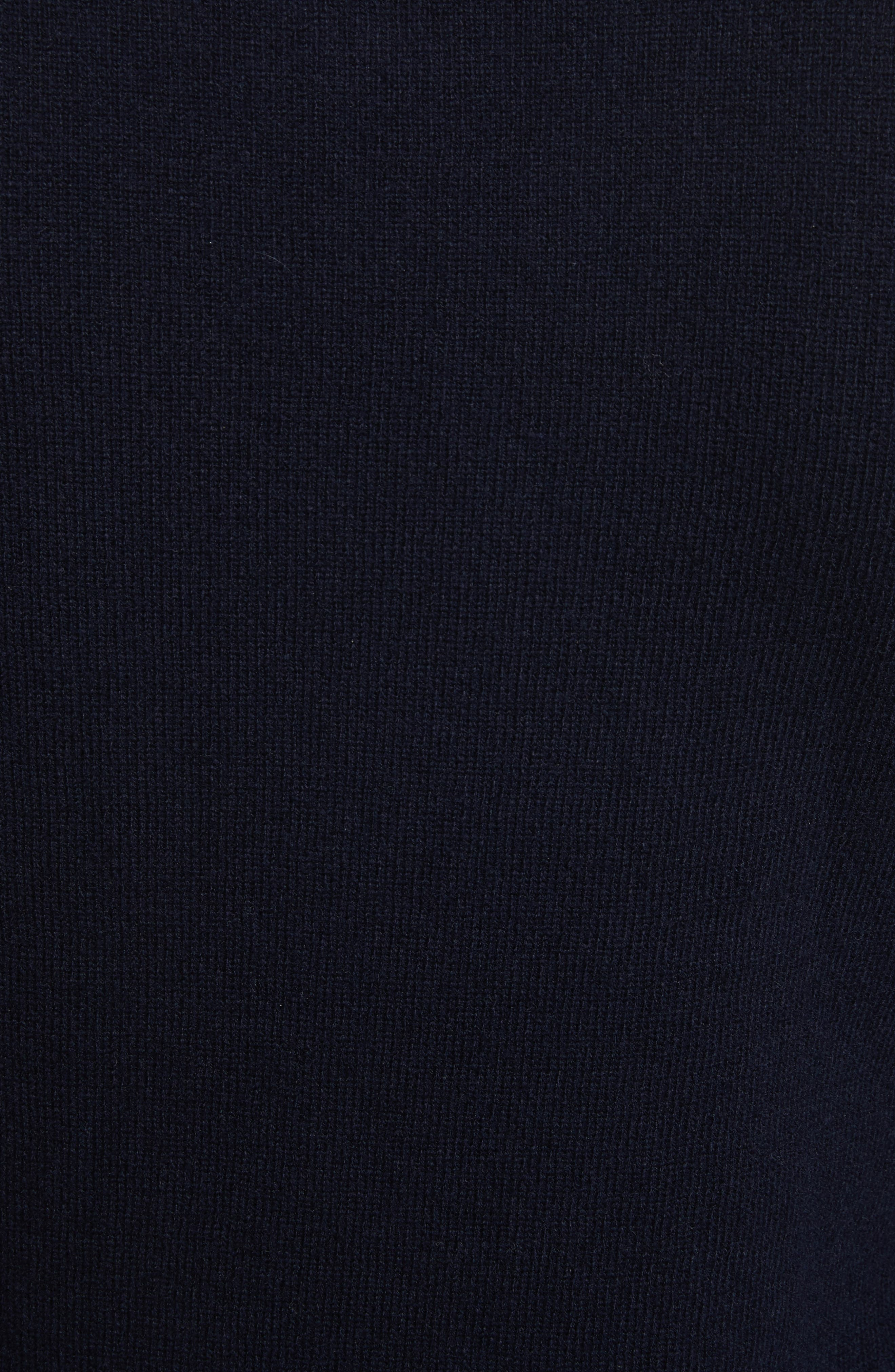 Comme des Garçons PLAY Wool Sweater,                             Alternate thumbnail 5, color,                             NAVY