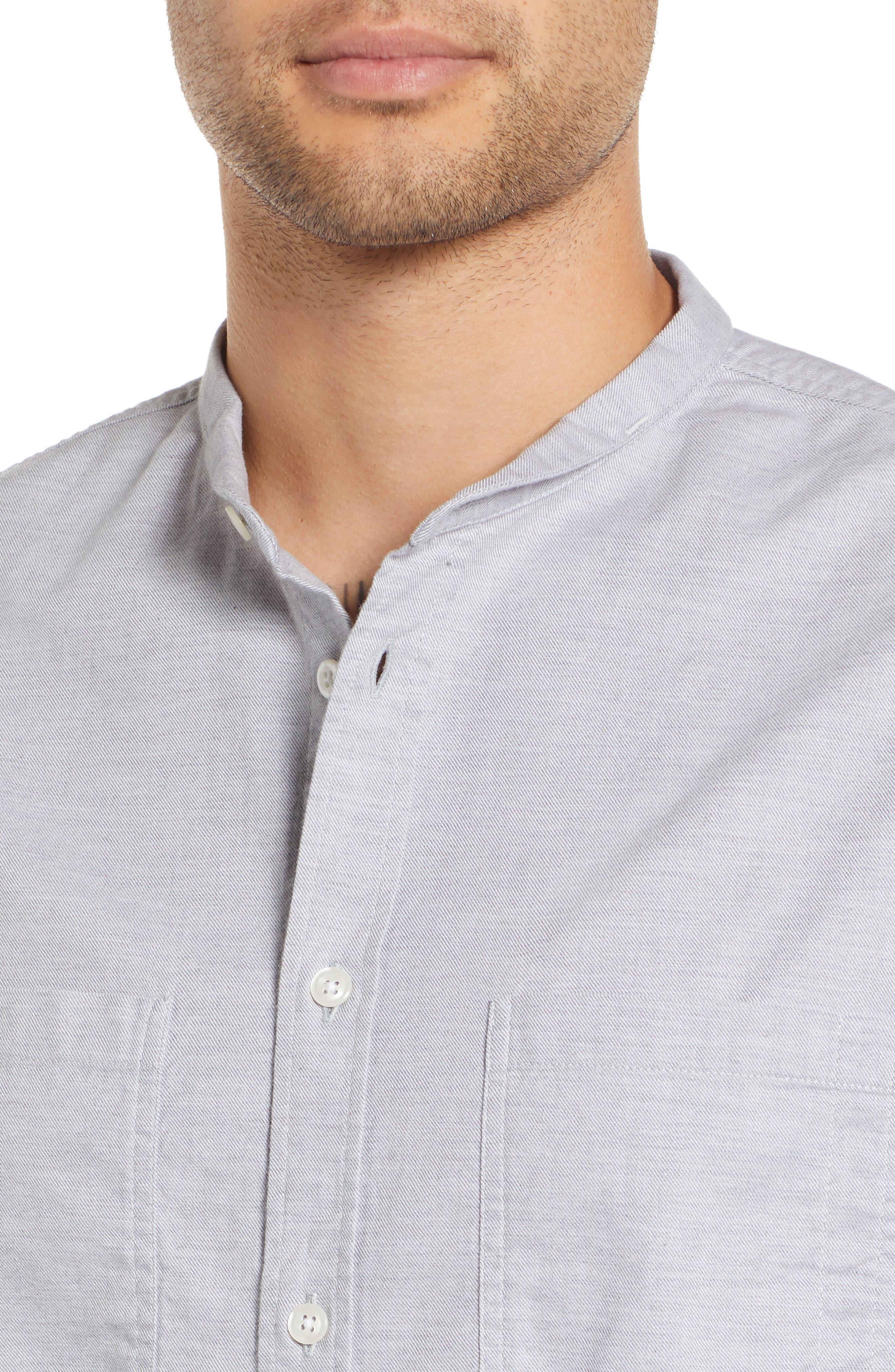 Rick Regular Fit Solid Sport Shirt,                             Alternate thumbnail 2, color,                             GREY MELANGE